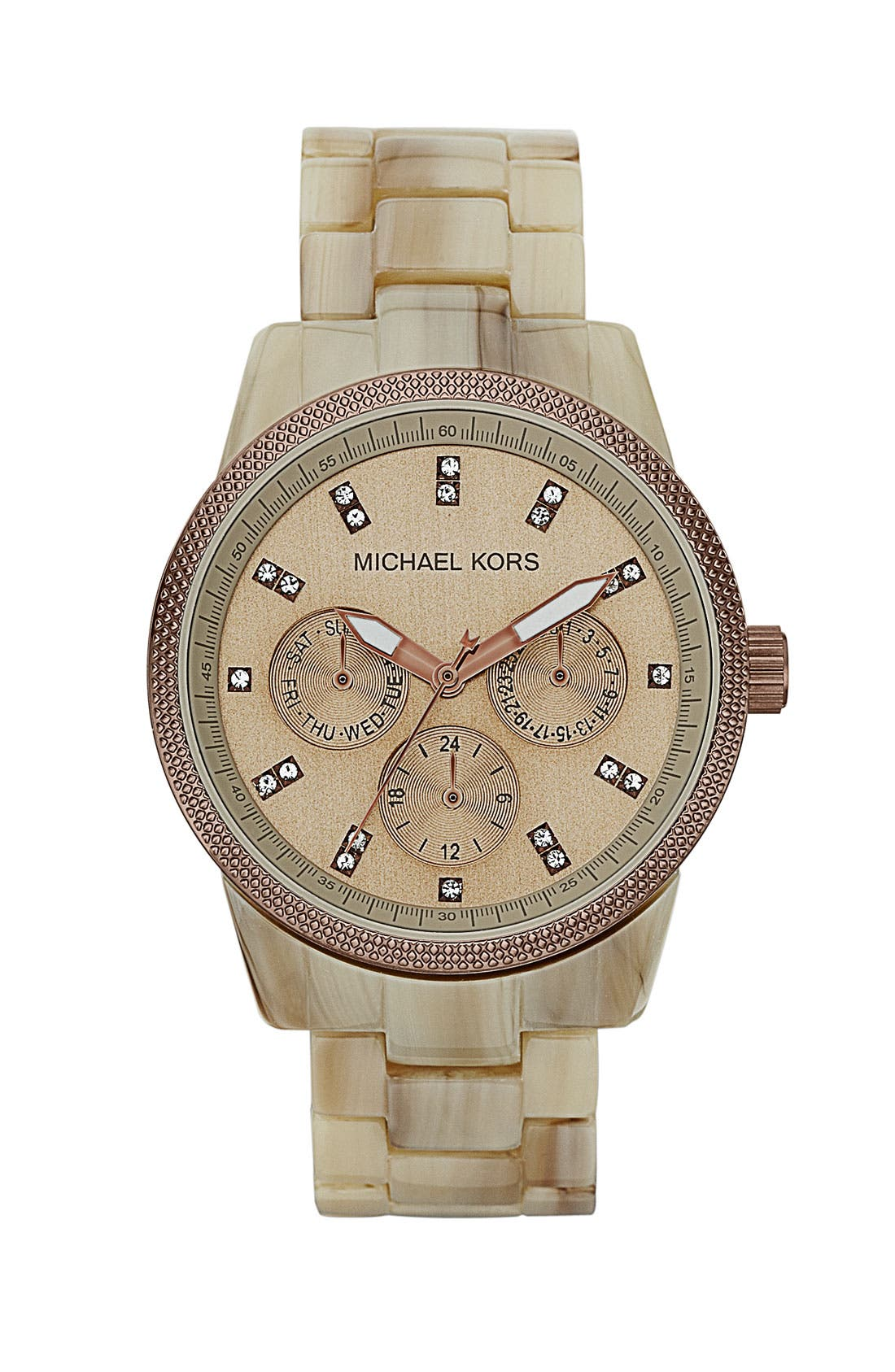 Alternate Image 1 Selected - Michael Kors 'Ritz' Crystal Index Bracelet Watch