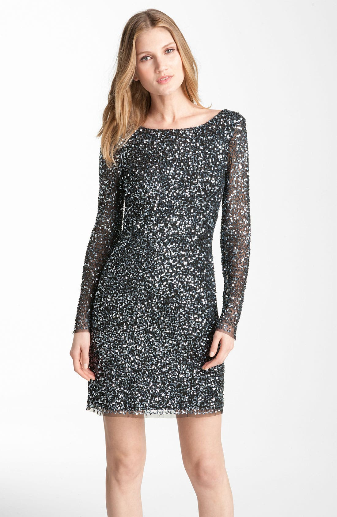 Alternate Image 1 Selected - Adrianna Papell Sequin Shift Dress