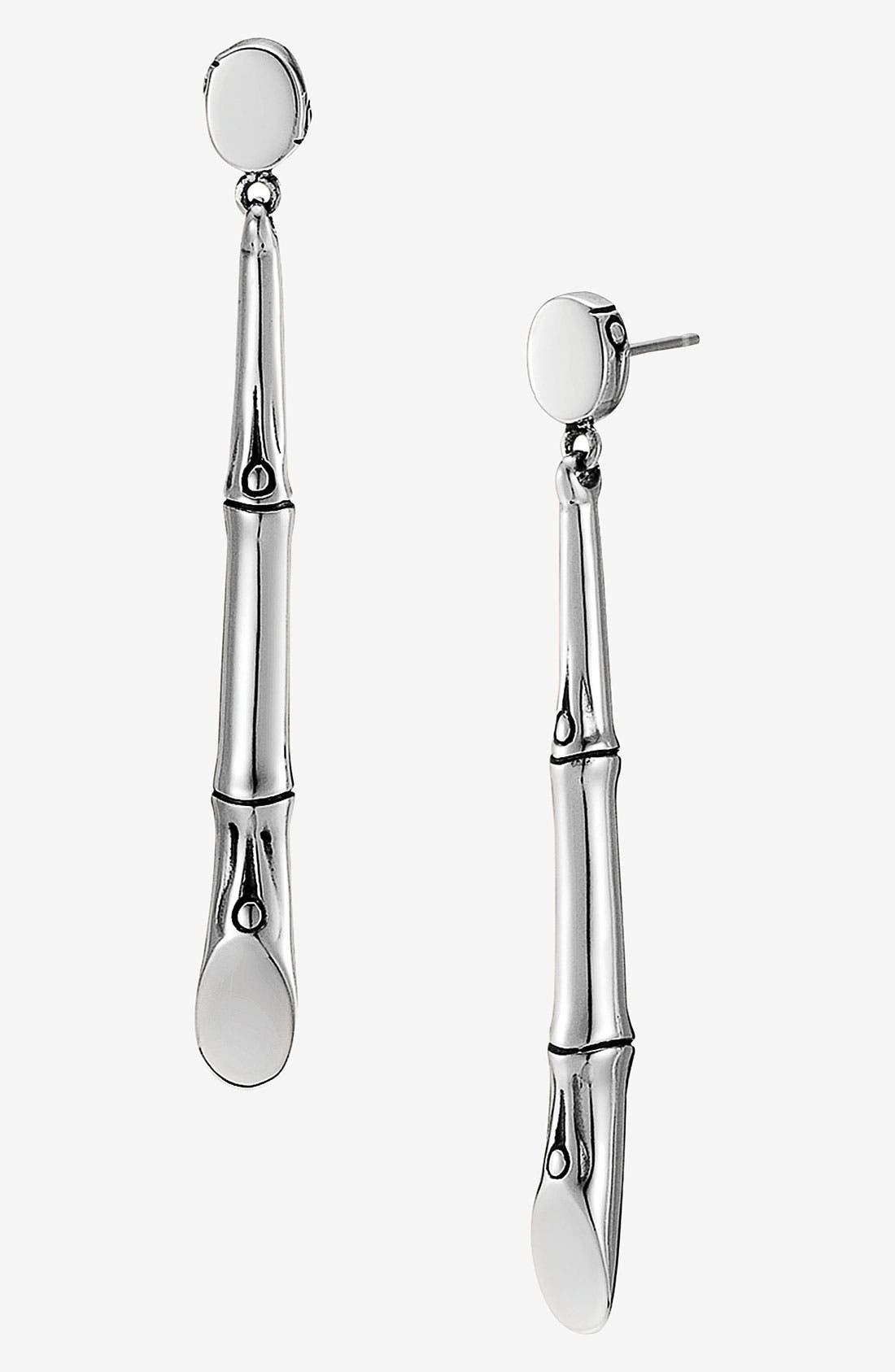 Alternate Image 1 Selected - John Hardy 'Bamboo' Long Drop Earrings