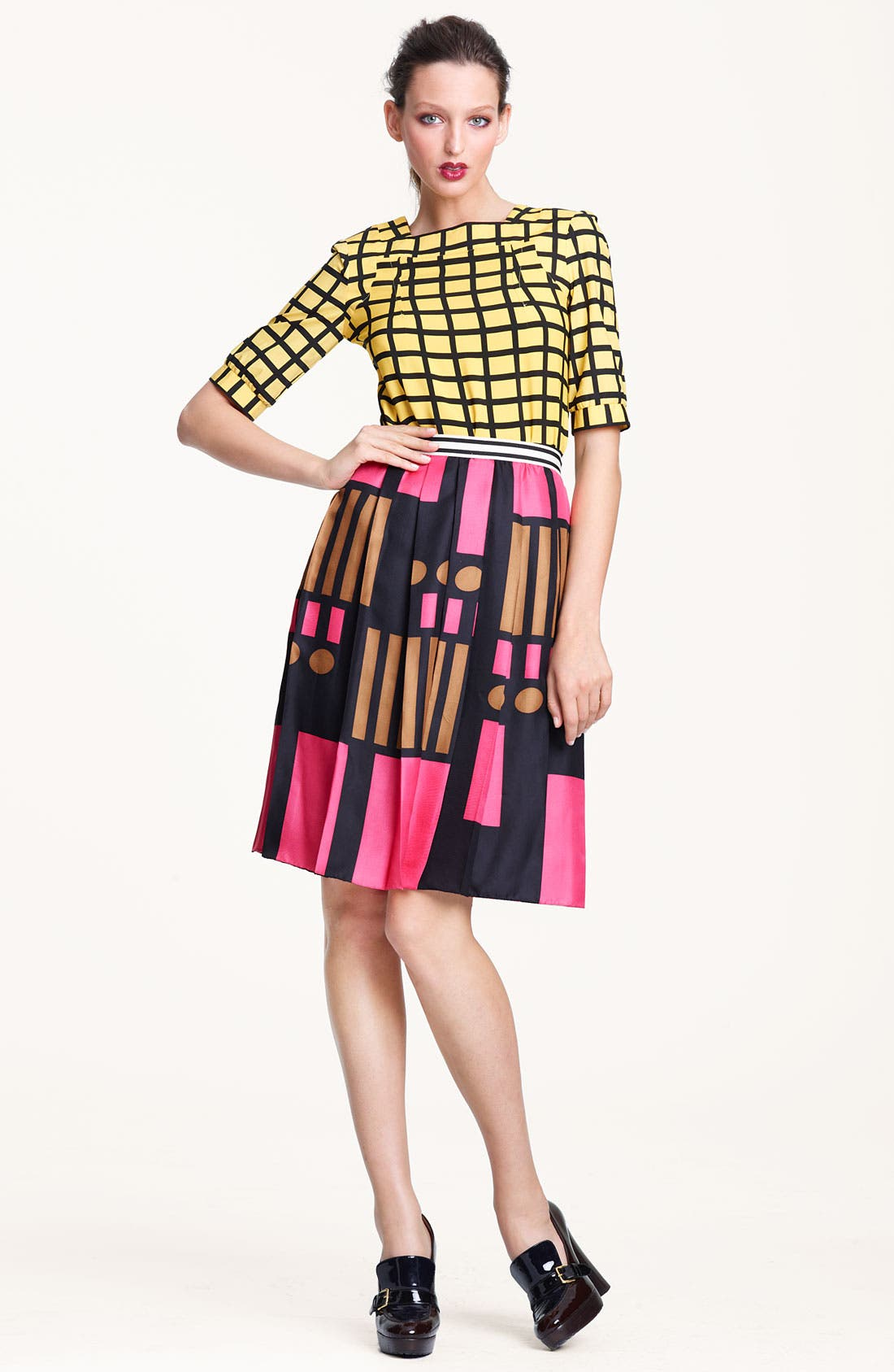 Alternate Image 1 Selected - Marni Edition Grid Print Crepe Top