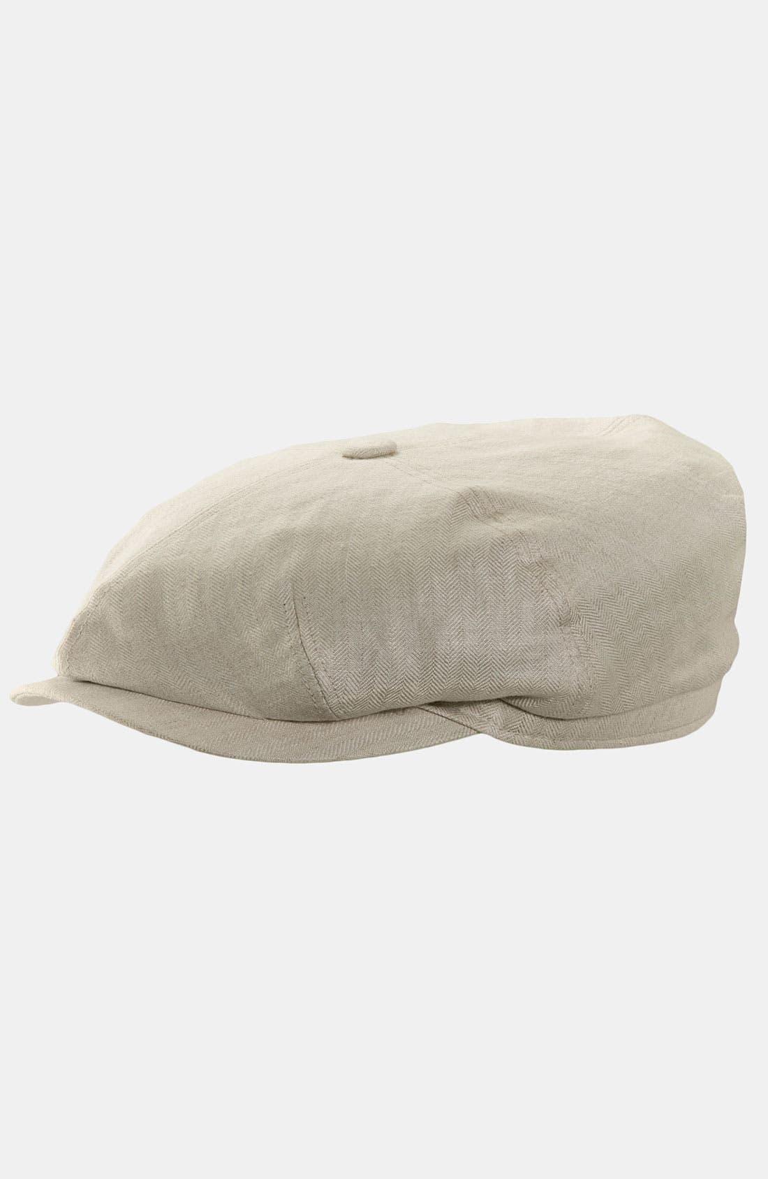 Alternate Image 1 Selected - Stetson Linen Newsboy Cap