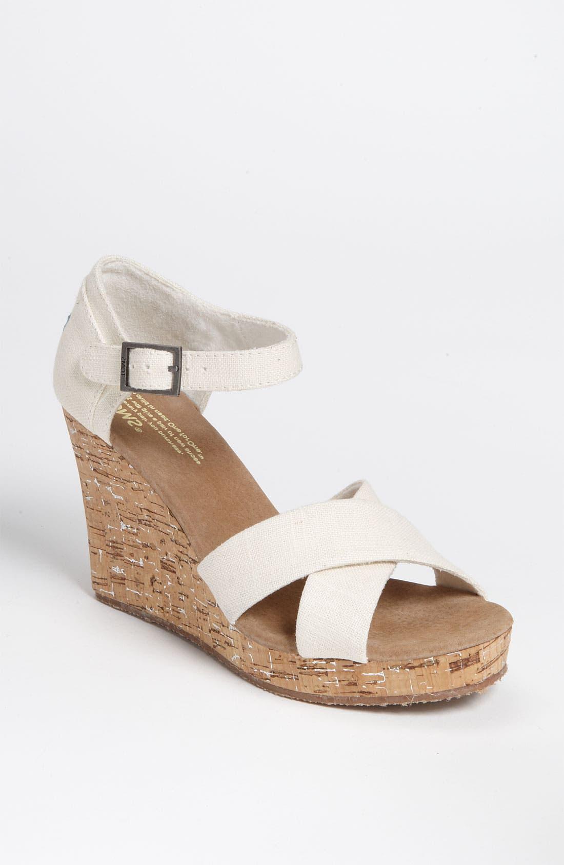 Alternate Image 1 Selected - TOMS Linen Sandal