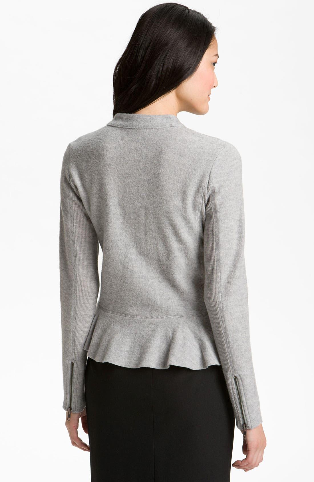 Alternate Image 2  - Halogen® Boiled Wool Peplum Jacket