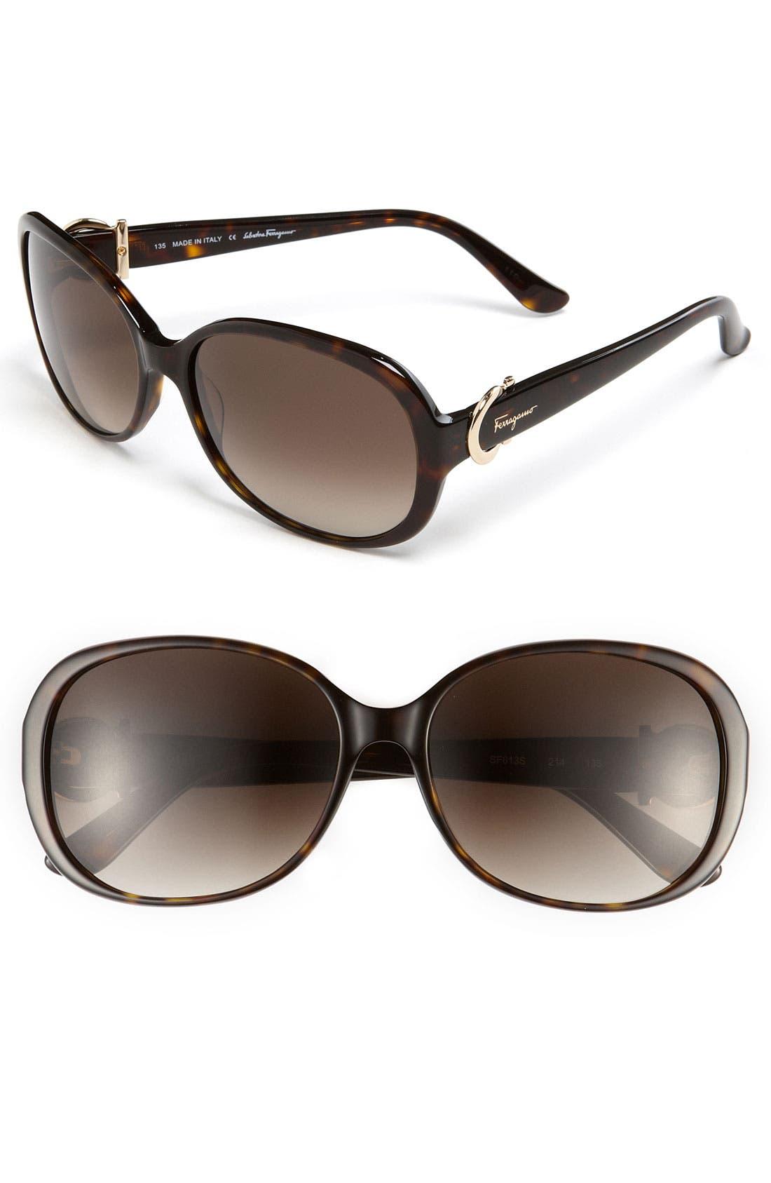 Alternate Image 1 Selected - Salvatore Ferragamo Classic Sunglasses