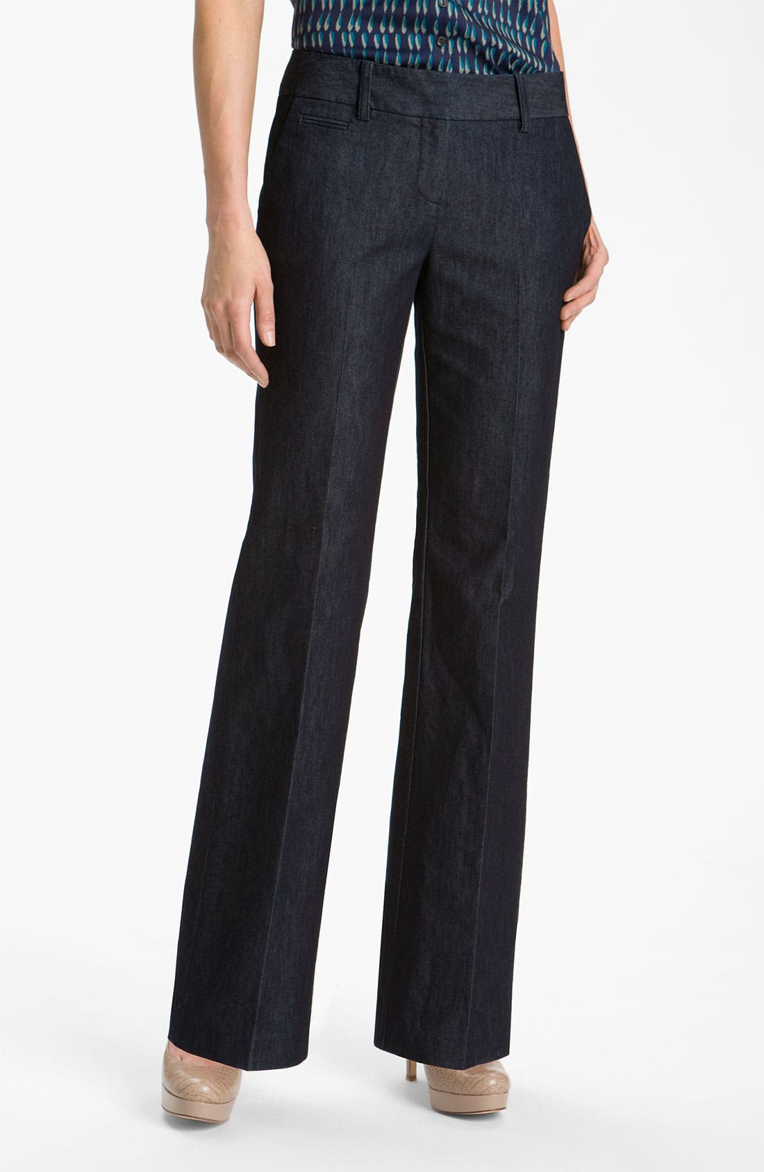 Alternate Image 1 Selected - Halogen® 'Taylor' Curvy Fit Denim Pants