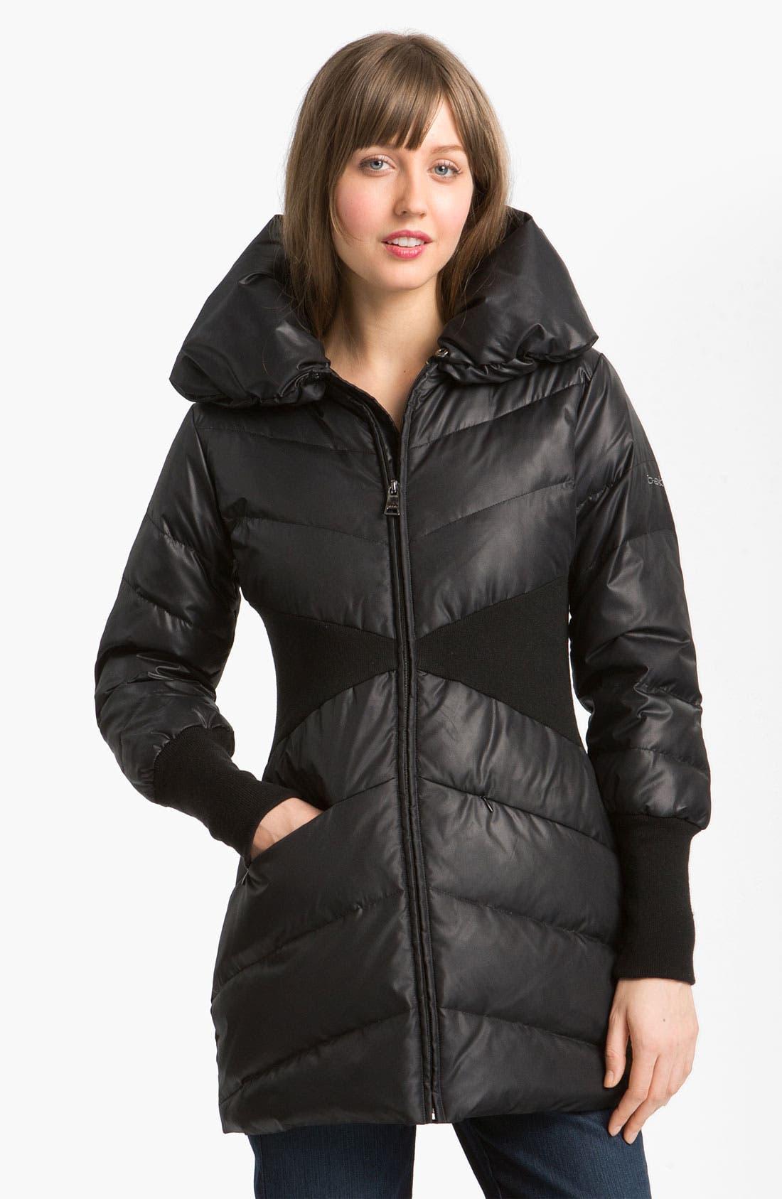 Main Image - bebe Knit Trim Puffer Jacket