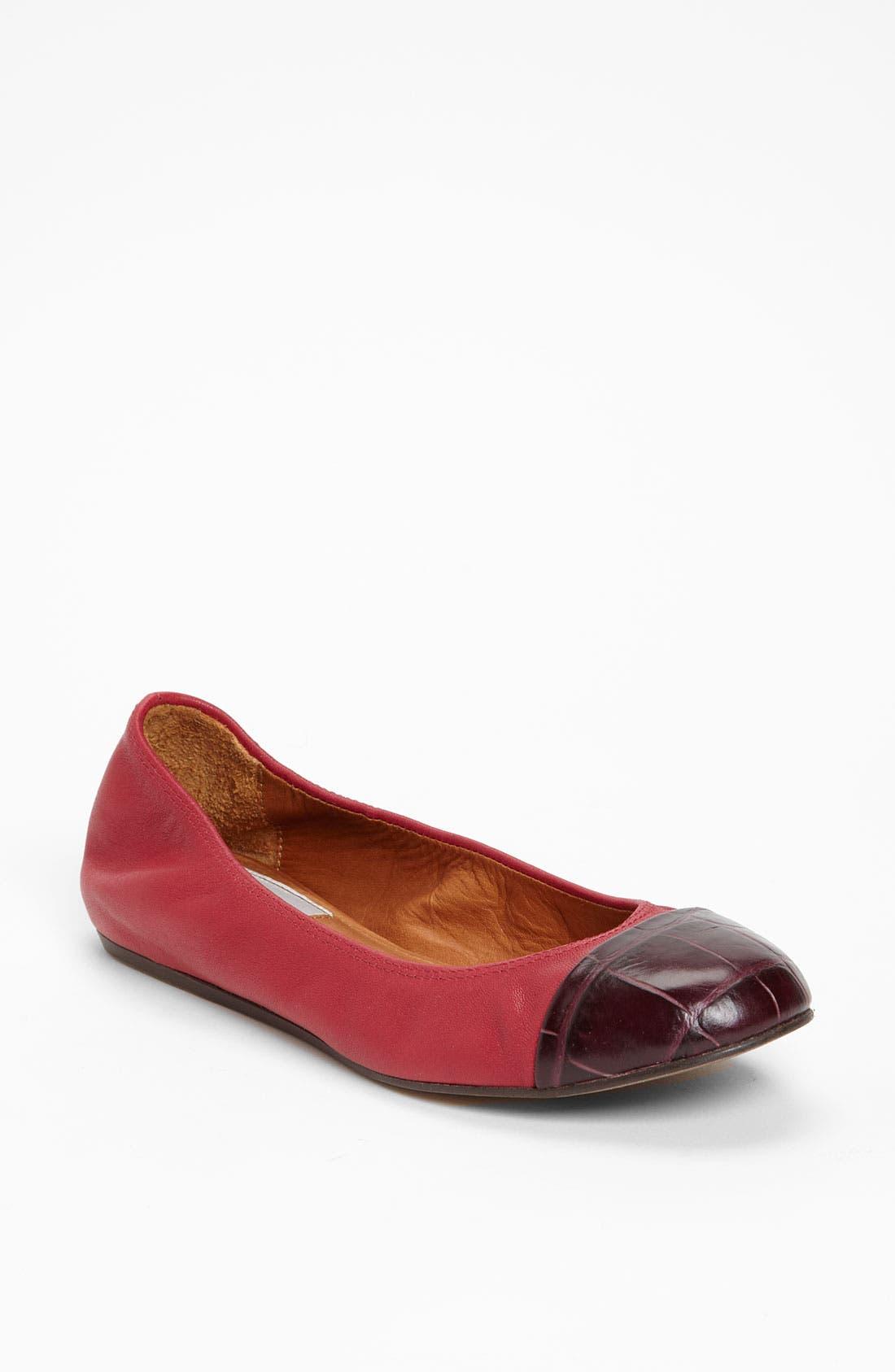 Main Image - Lanvin Cap Toe Ballerina Flat