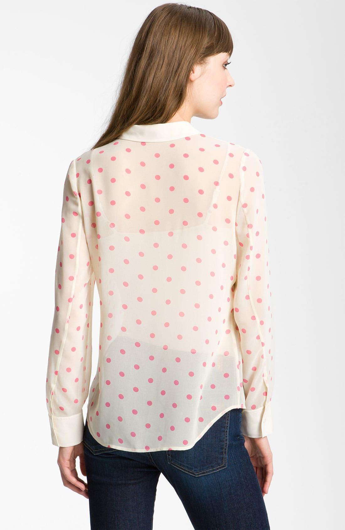 Alternate Image 2  - Hinge® Print Chiffon Shirt