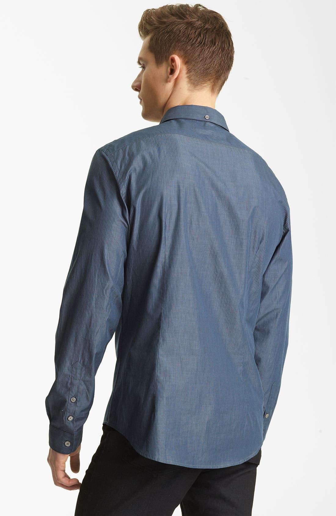 Alternate Image 2  - John Varvatos Collection Stripe Woven Shirt