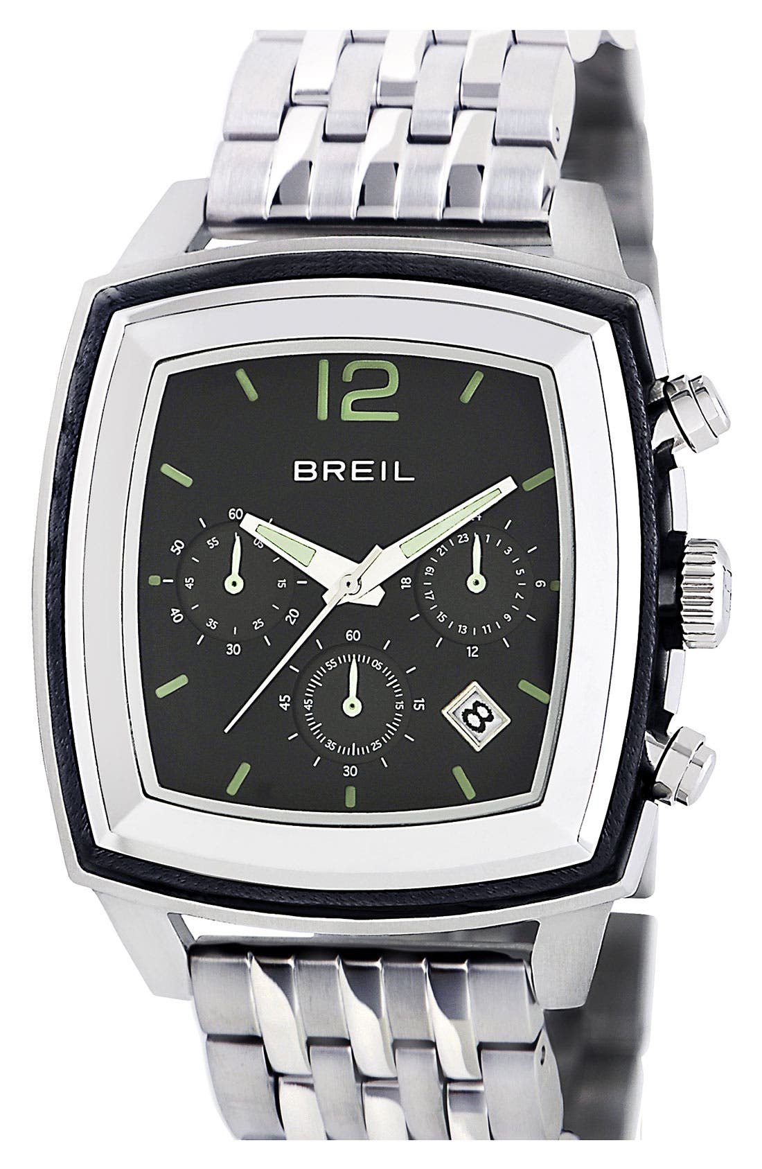 Main Image - Breil 'Orchestra' Large Square Chronograph Watch, 42mm x 52mm