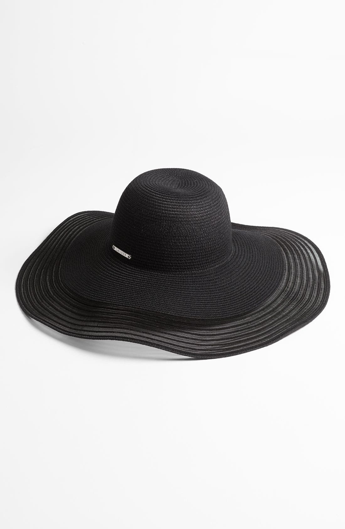 Main Image - Lauren Ralph Lauren Straw & Sheer Floppy Hat