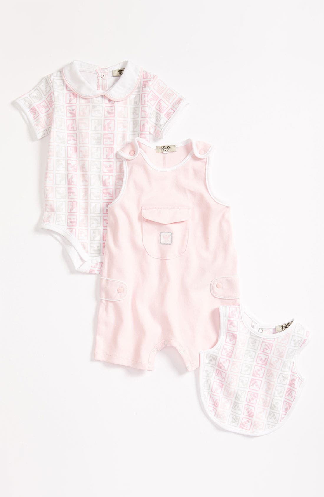 Alternate Image 1 Selected - Armani Junior Bodysuit, Coveralls & Bib (Infant)