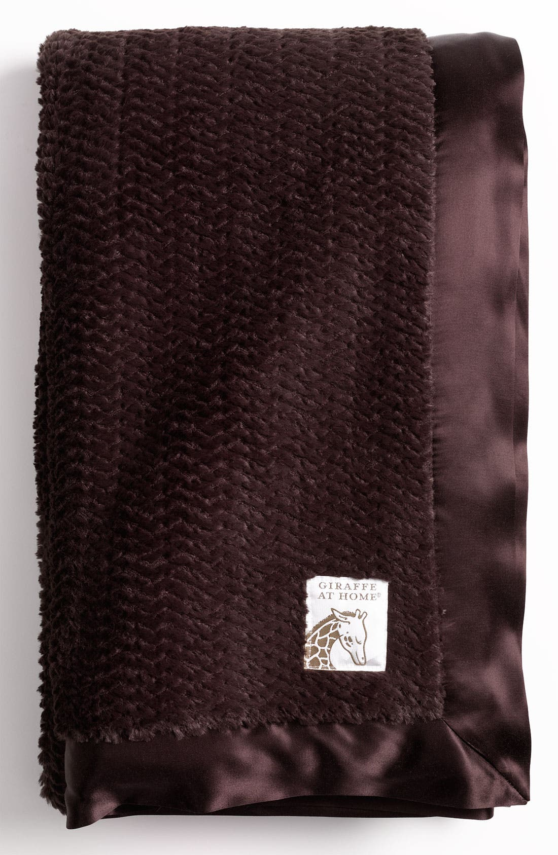 'Luxe Twist' Throw,                             Main thumbnail 1, color,                             Chocolate