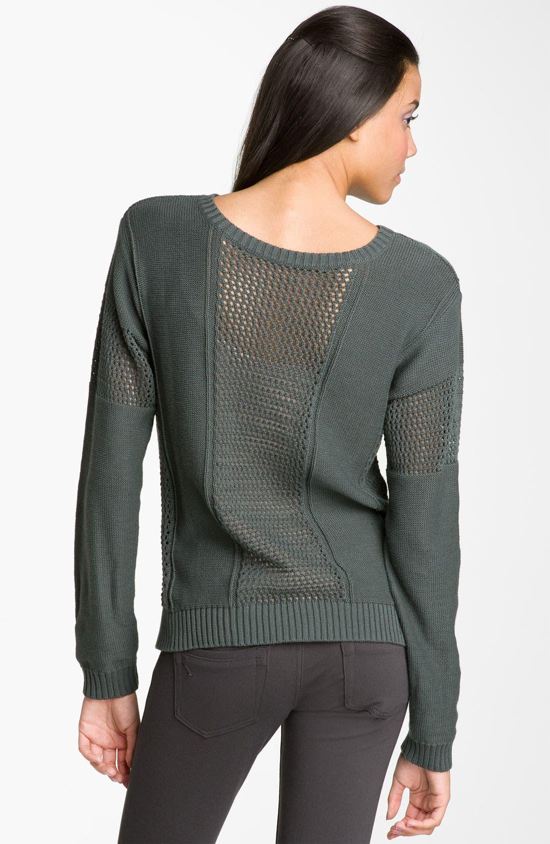 Alternate Image 2  - Rubbish® Open-Weave Panel Sweater (Juniors)