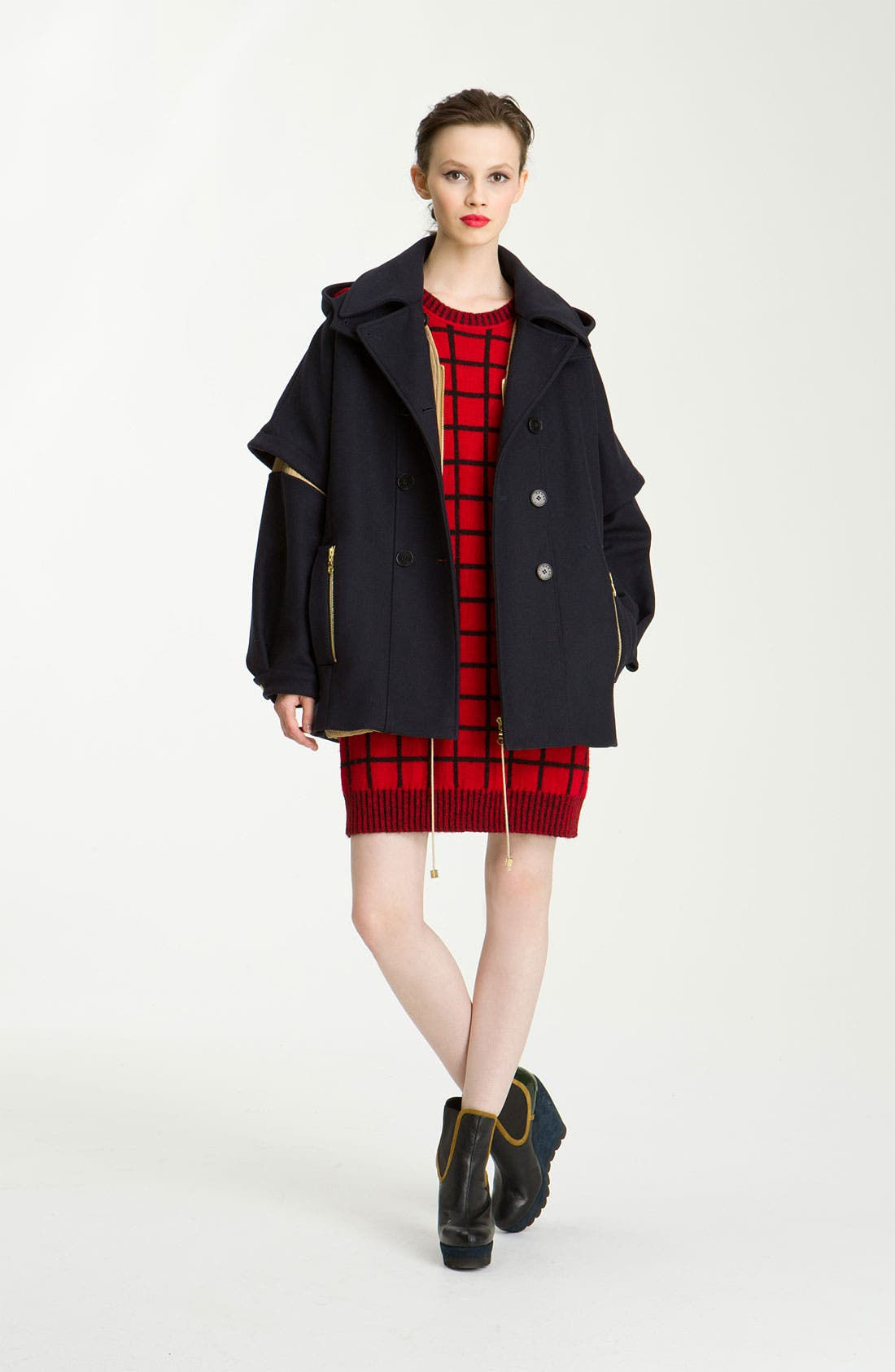 Alternate Image 1 Selected - KENZO 3-in-1 Double Breasted Wool Jacket