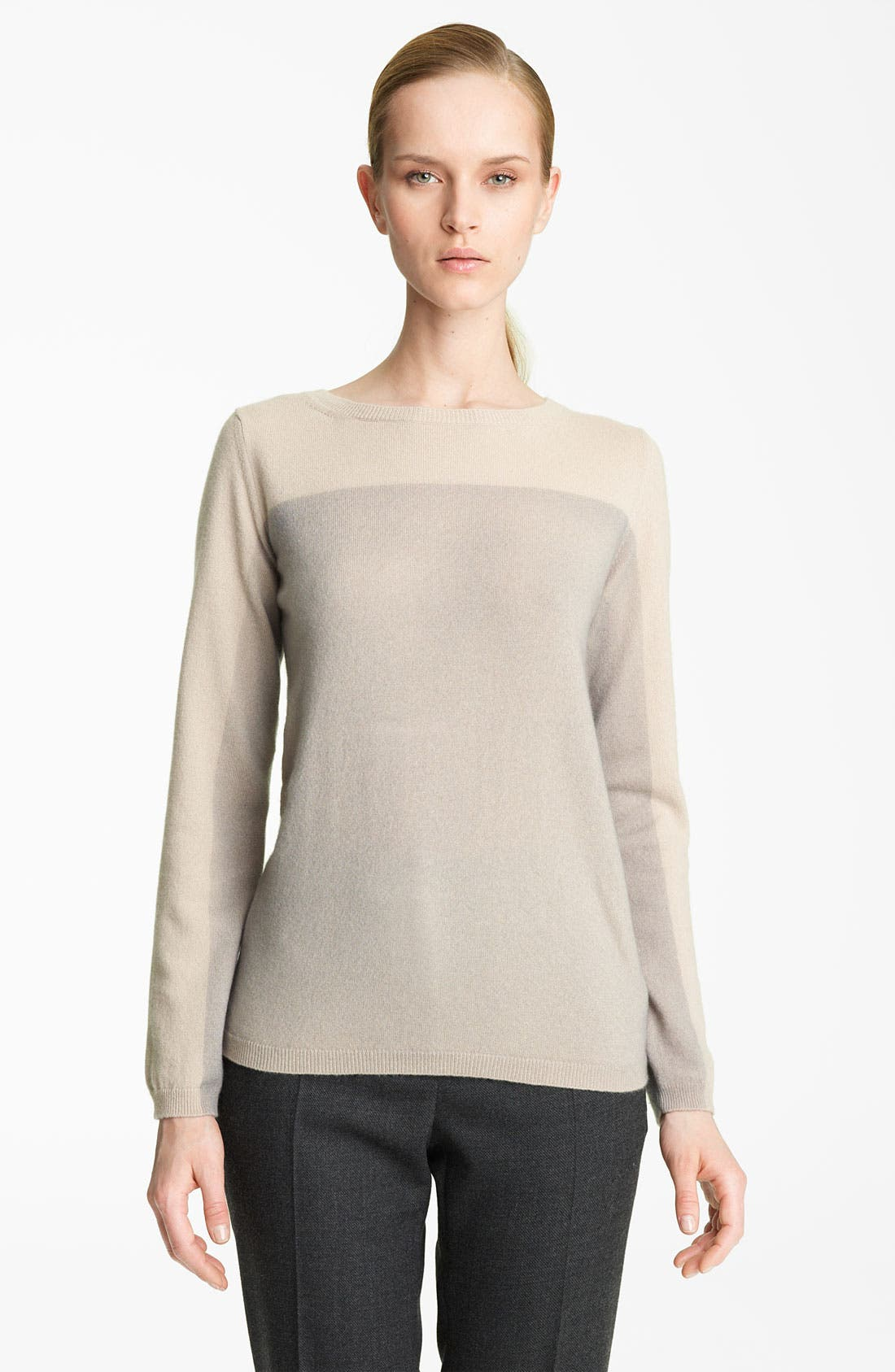 Alternate Image 1 Selected - Fabiana Filippi Bicolor Cashmere Pullover