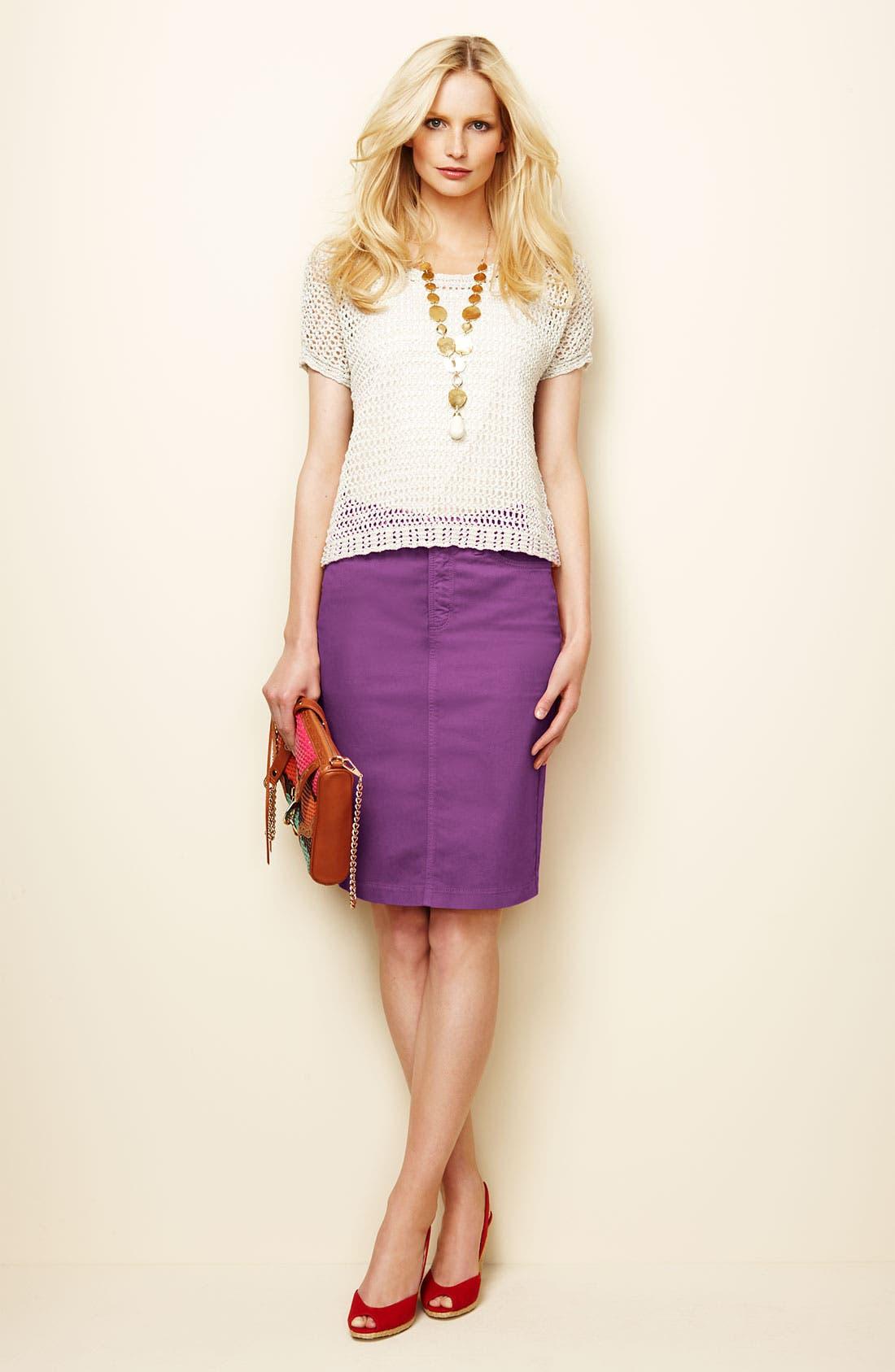 Alternate Image 2  - NYDJ 'Emma' Stretch Twill Skirt
