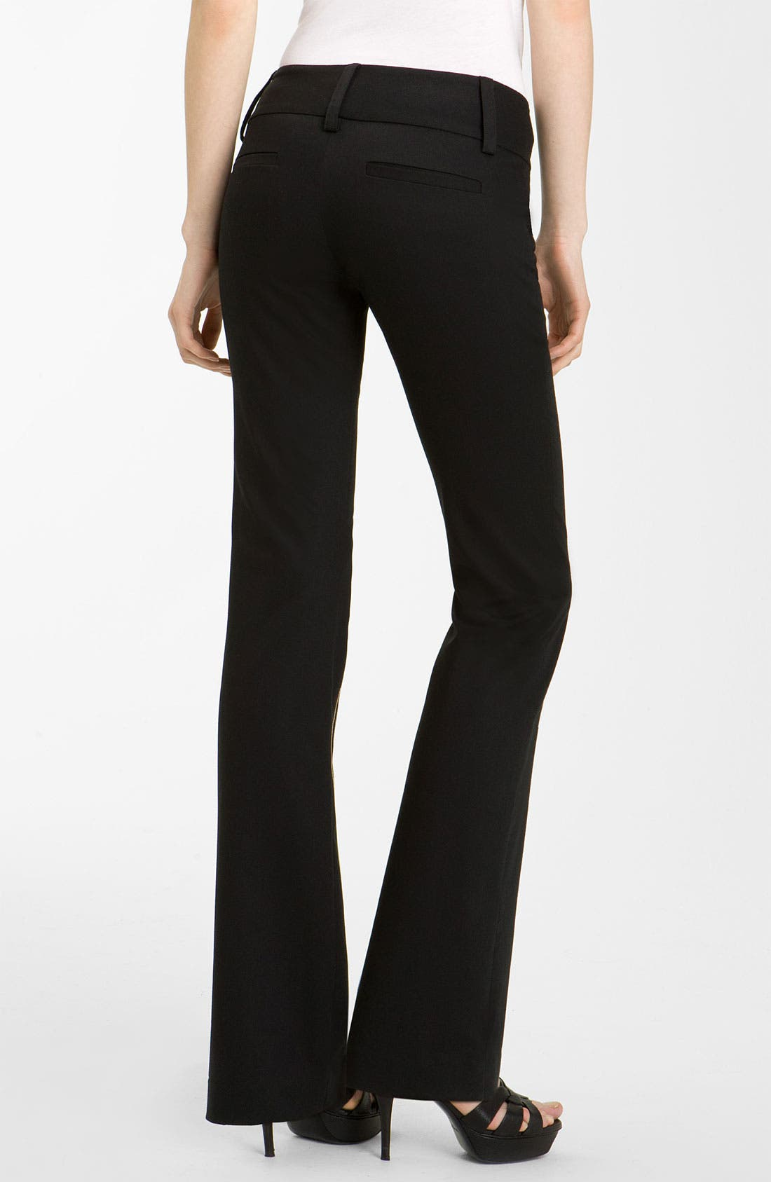Alternate Image 2  - Alice + Olivia 'Olivia' Flare Leg Stretch Wool Pants