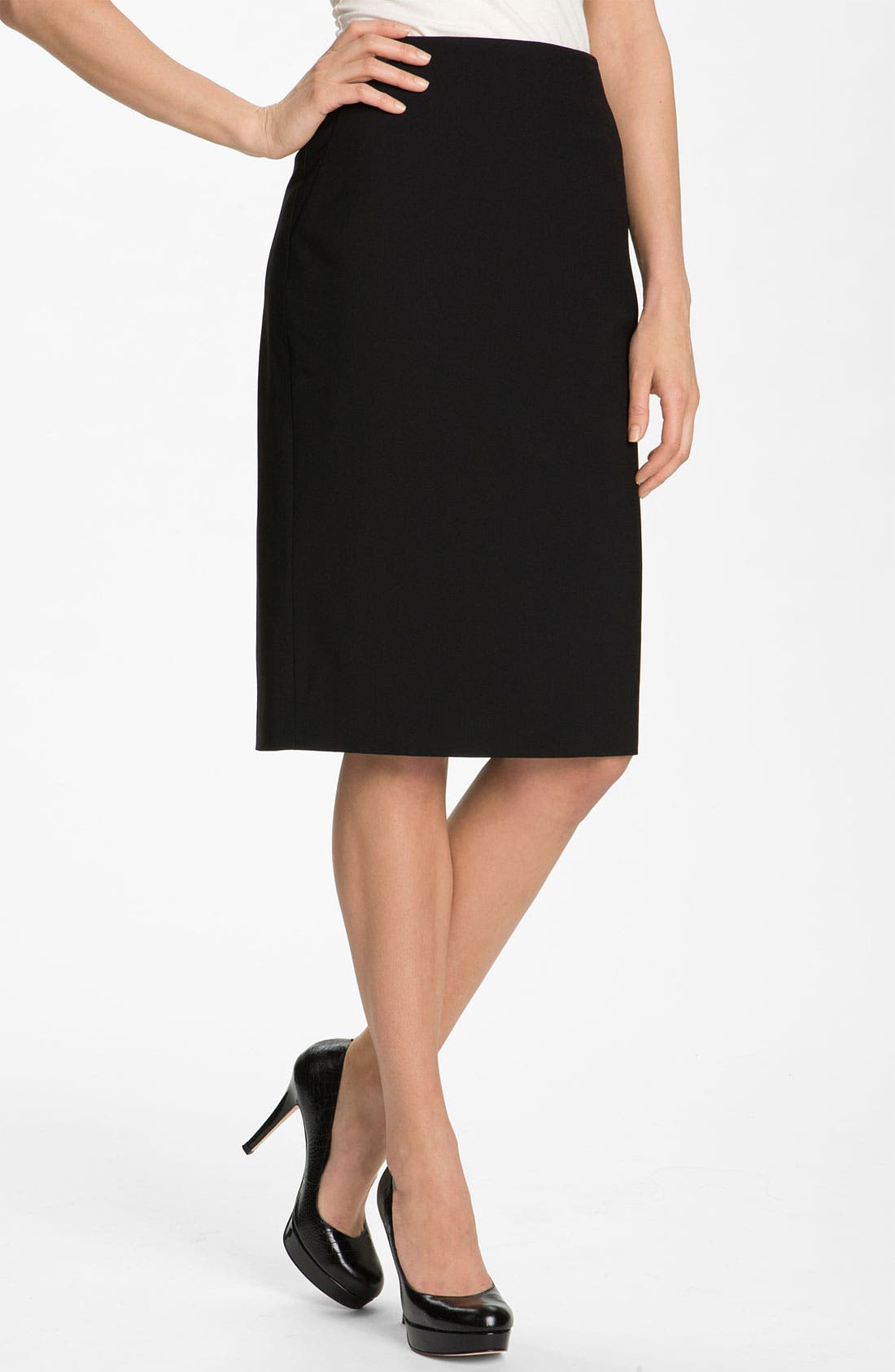 Alternate Image 1 Selected - Classiques Entier® High Waist Stretch Wool Skirt