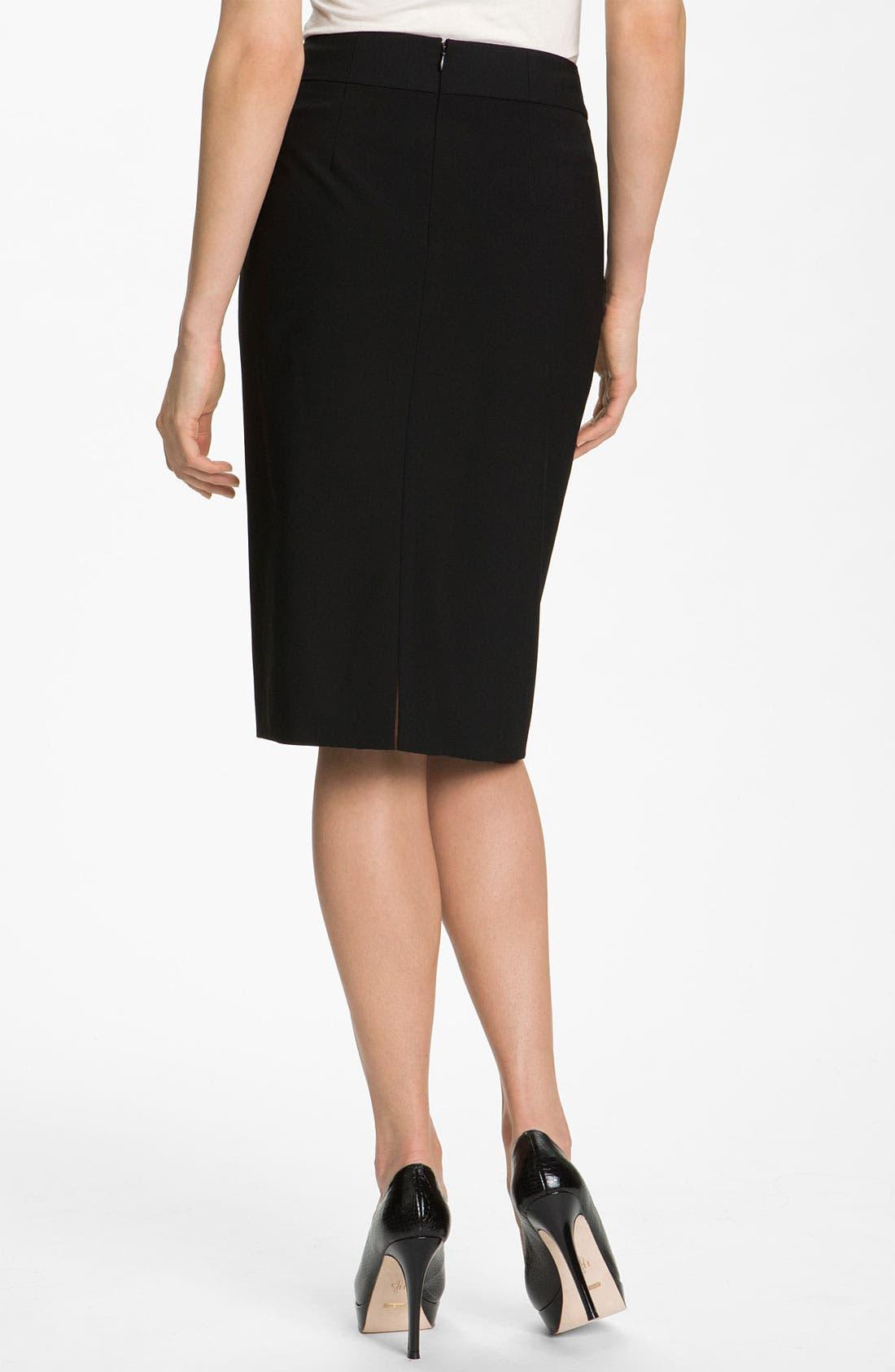 Alternate Image 2  - Classiques Entier® High Waist Stretch Wool Skirt