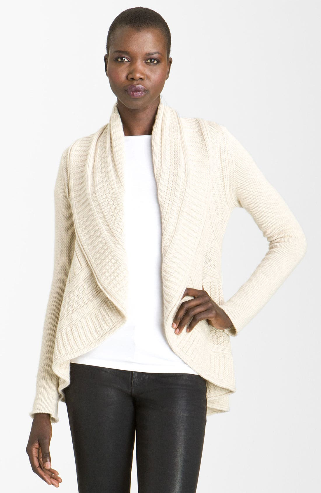 Alternate Image 1 Selected - autumn cashmere Cable Knit Cardigan