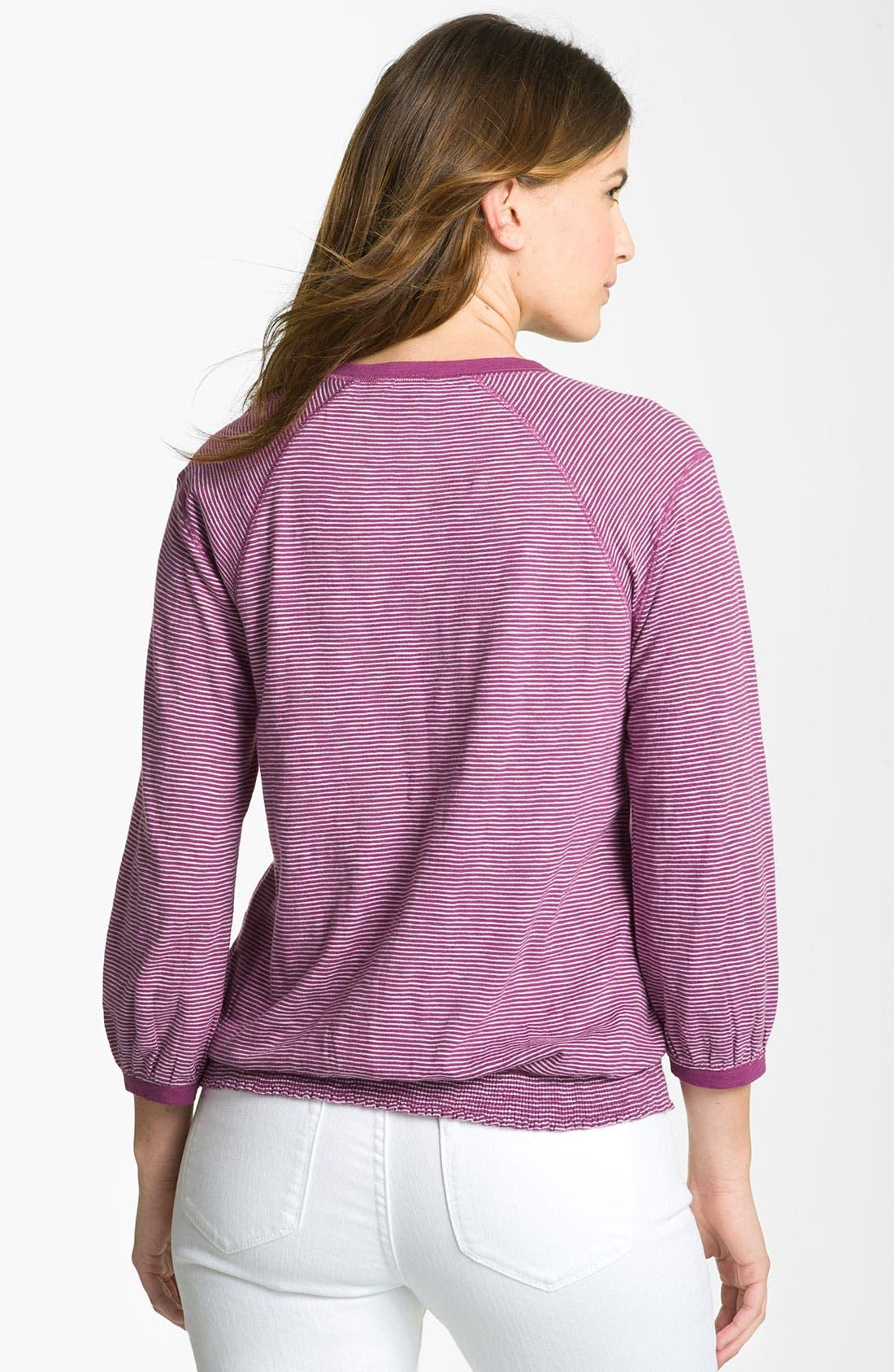 Alternate Image 2  - Amber Sun Long Sleeve Slub Stripe Top