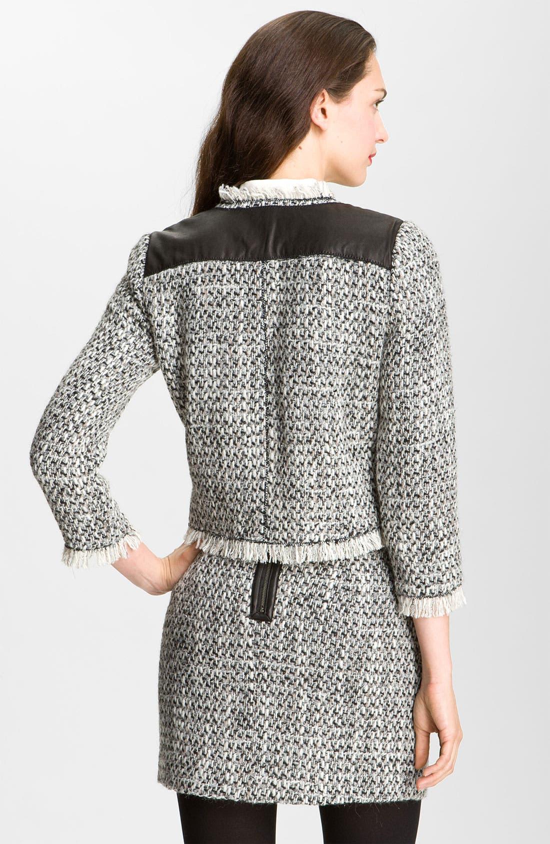 Alternate Image 2  - Rebecca Taylor Tweed & Leather Jacket