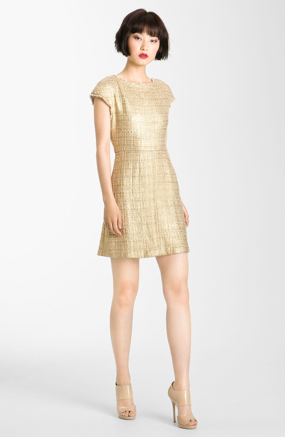 Main Image - Alice + Olivia Jacquard A-Line Dress