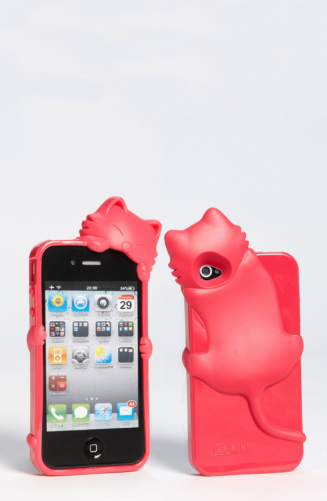 Alternate Image 1 Selected - Cara Couture 'Peeking Cat' iPhone 4 & 4S Case