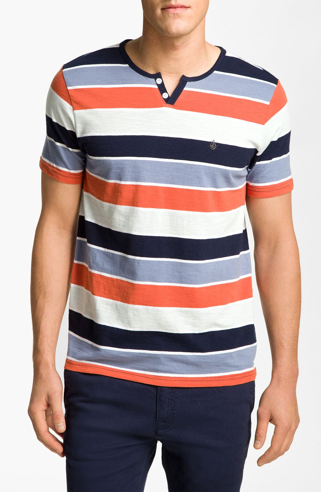 Alternate Image 1 Selected - Volcom 'Lingo' Stripe Henley T-Shirt