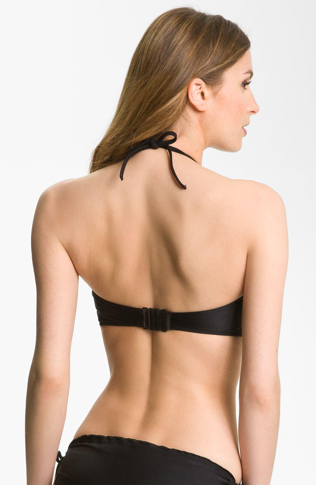 Alternate Image 2  - Seafolly Ruffle Bandeau Bikini Top (DD-Cup)