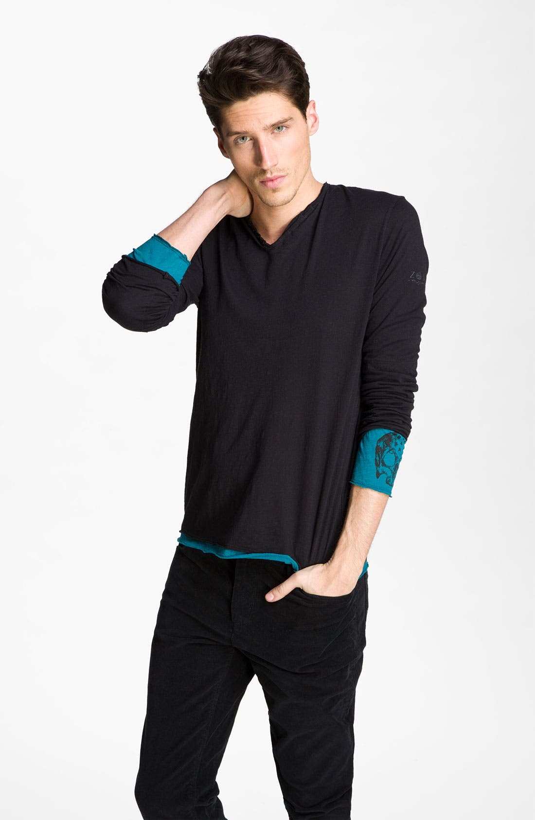 Main Image - Zadig & Voltaire Double Layer Henley