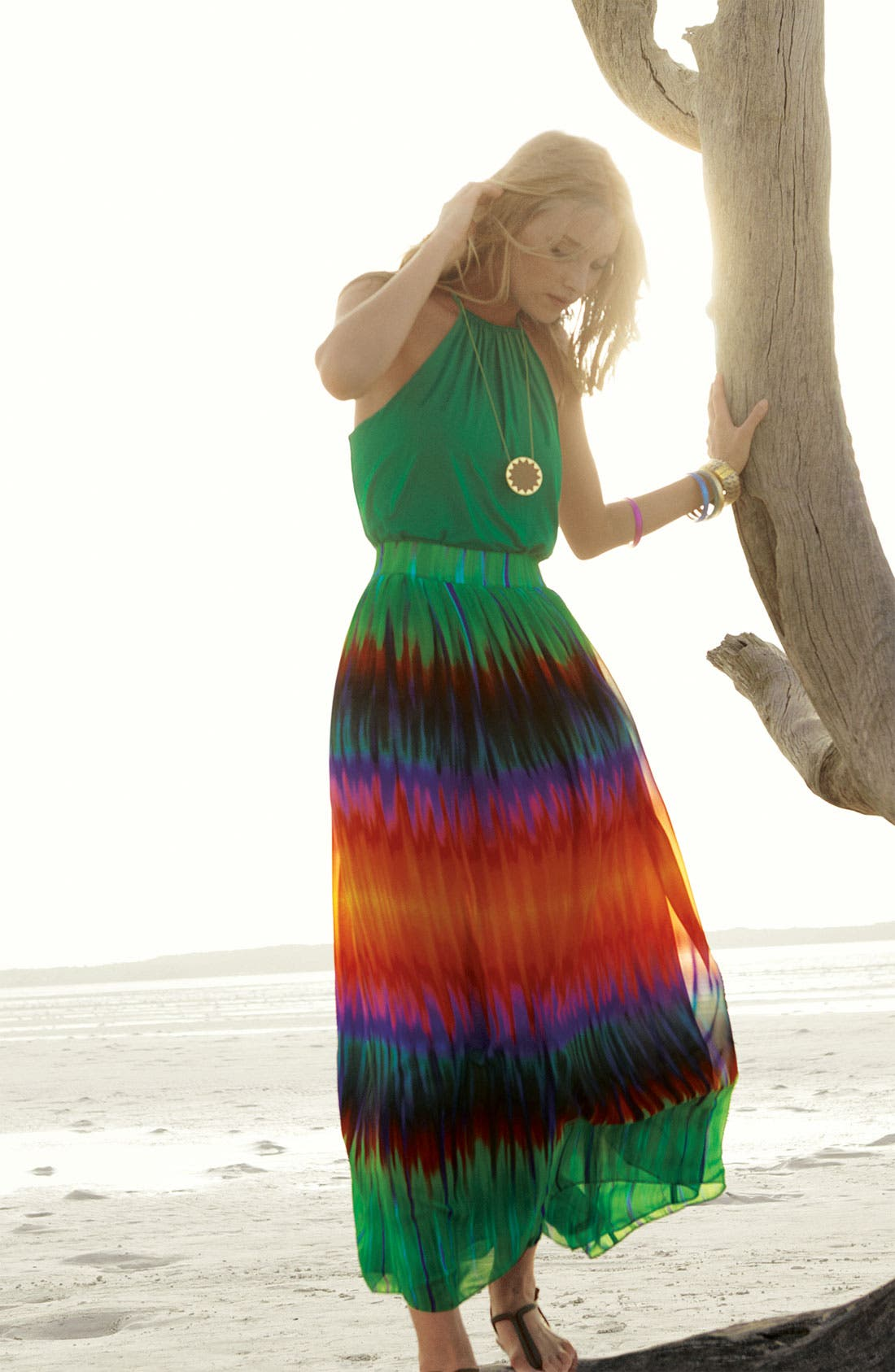 Alternate Image 1 Selected - Vince Camuto Maxi Skirt & Halter Top