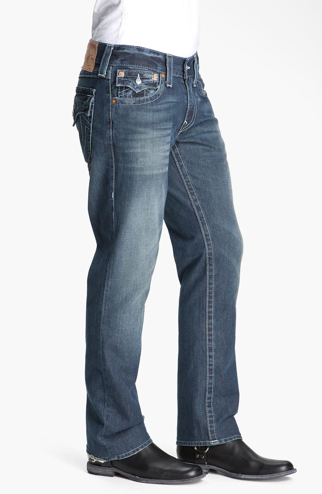 Alternate Image 3  - True Religion Brand Jeans 'Ricky - Natural' Straight Leg Jeans (Surfer Dark)