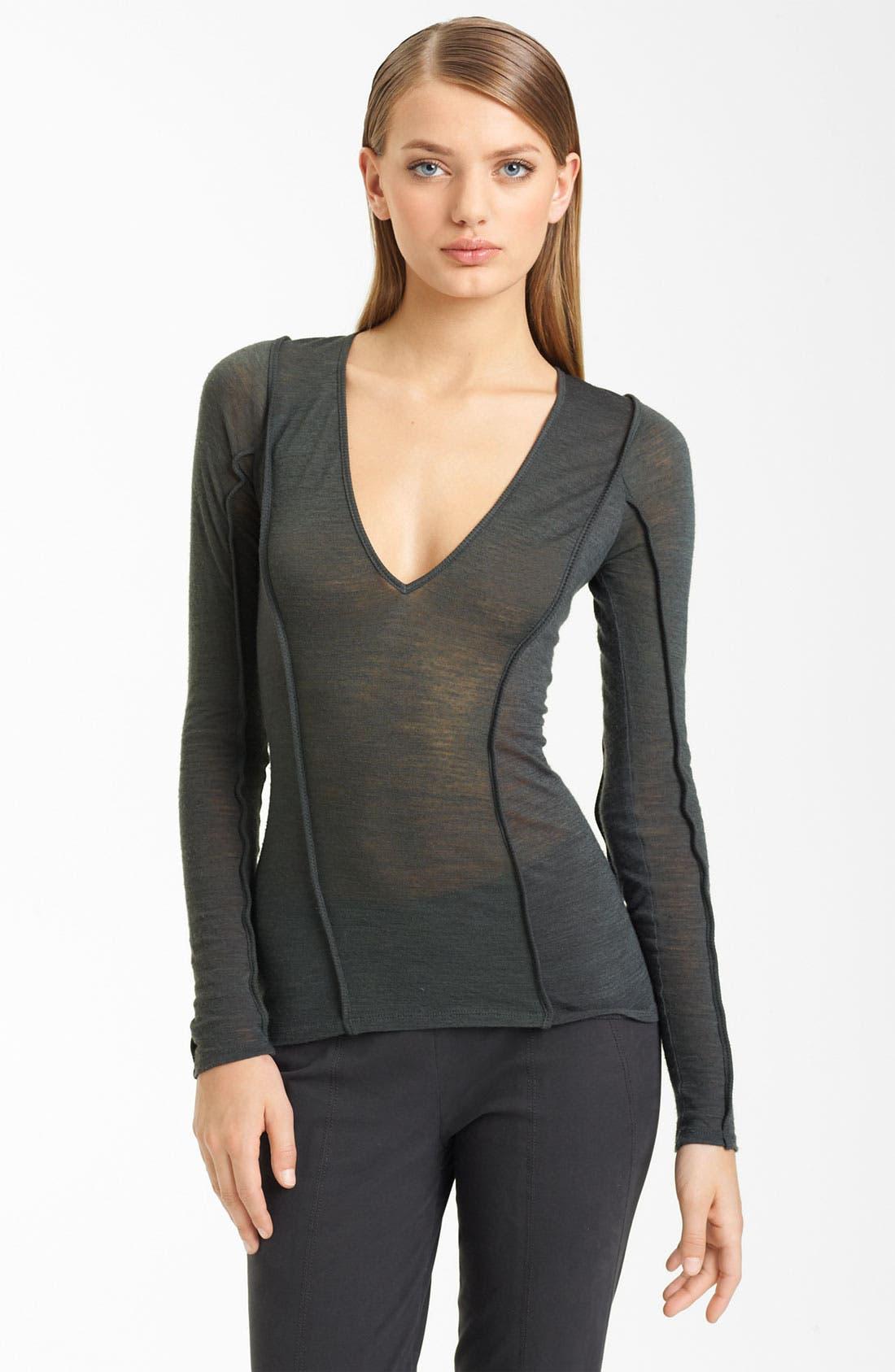 Alternate Image 1 Selected - Donna Karan Collection Mélange Jersey Top