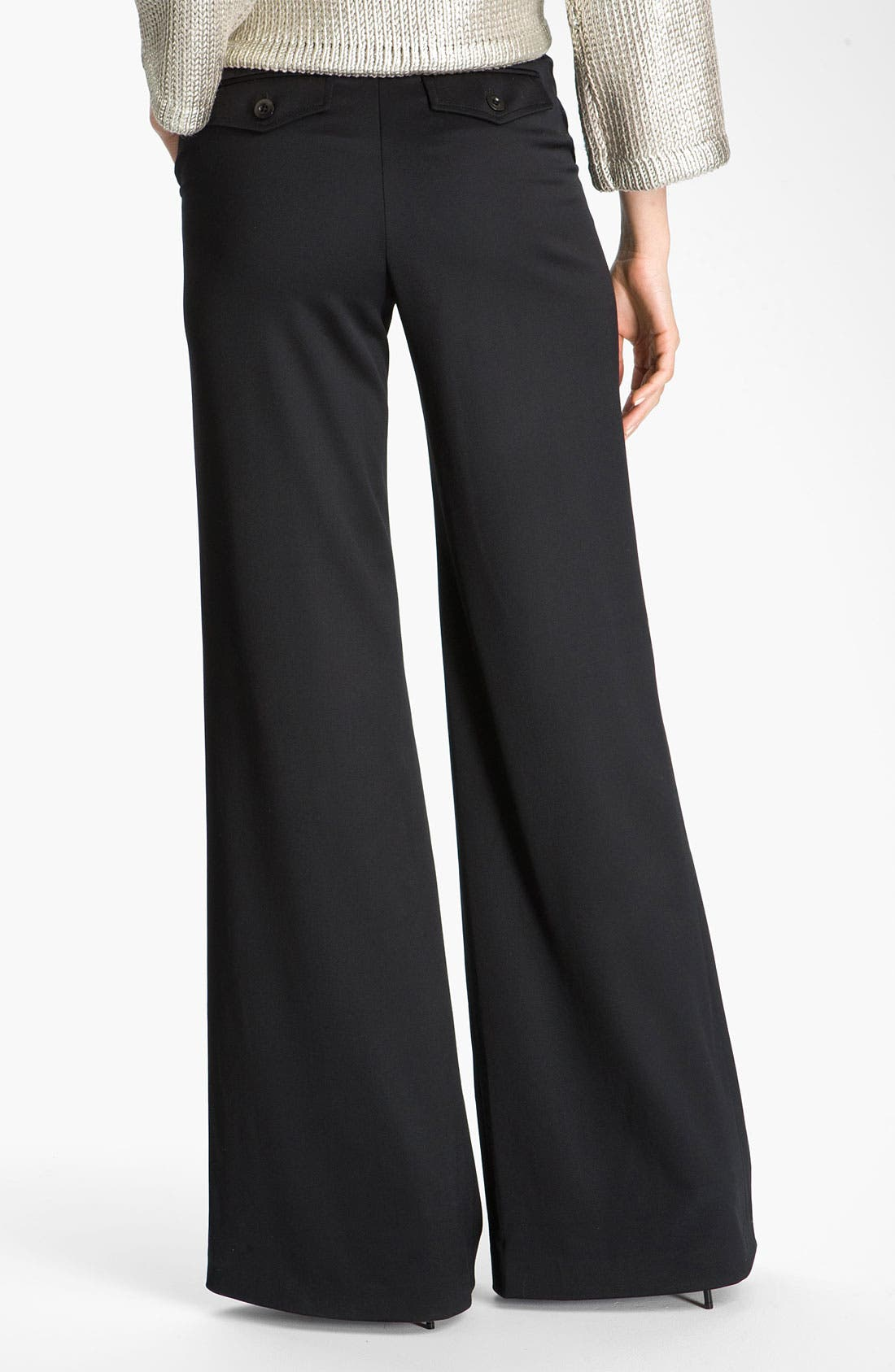 Alternate Image 3  - St. John Collection Inverted Fold Wide Leg Pants