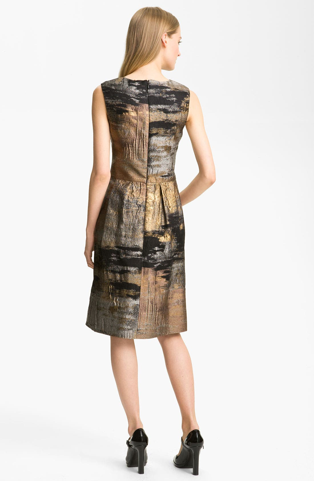 Alternate Image 2  - Lela Rose Full Skirt Organza Sheath Dress