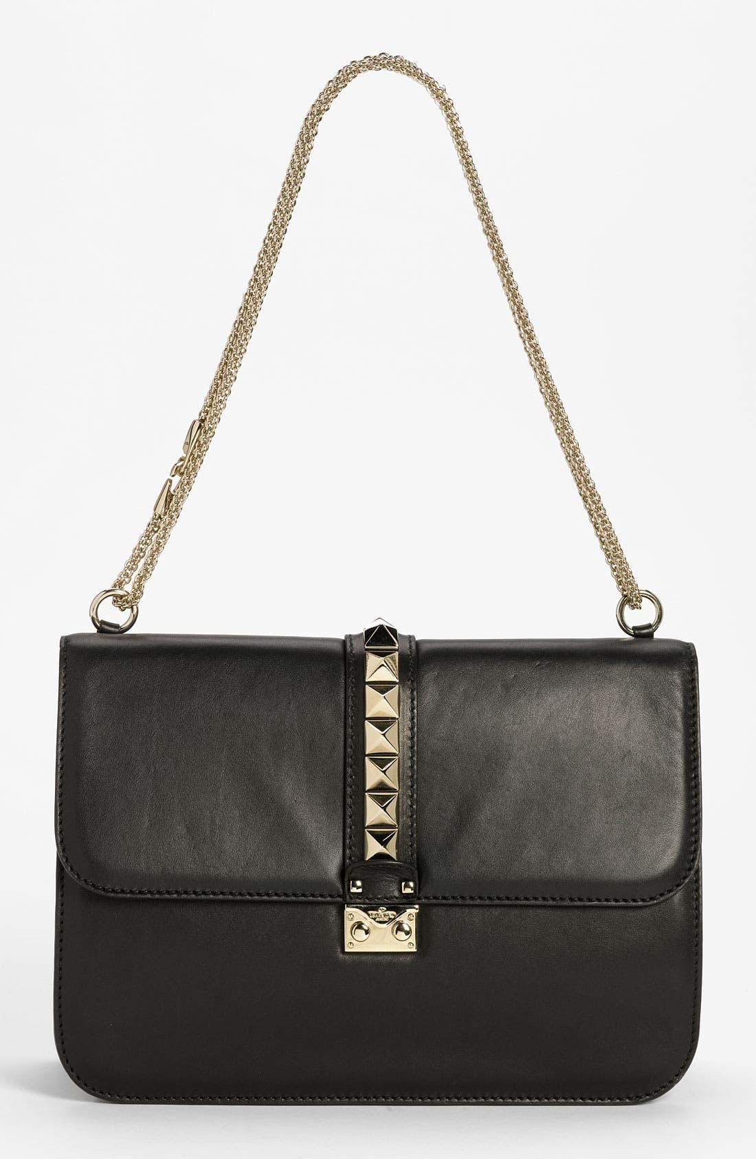 Main Image - Valentino 'Grande Lock' Leather Shoulder Bag