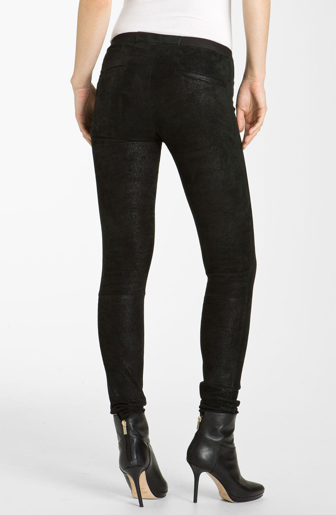 Alternate Image 2  - Helmut Lang Patina Lambskin Leather Leggings