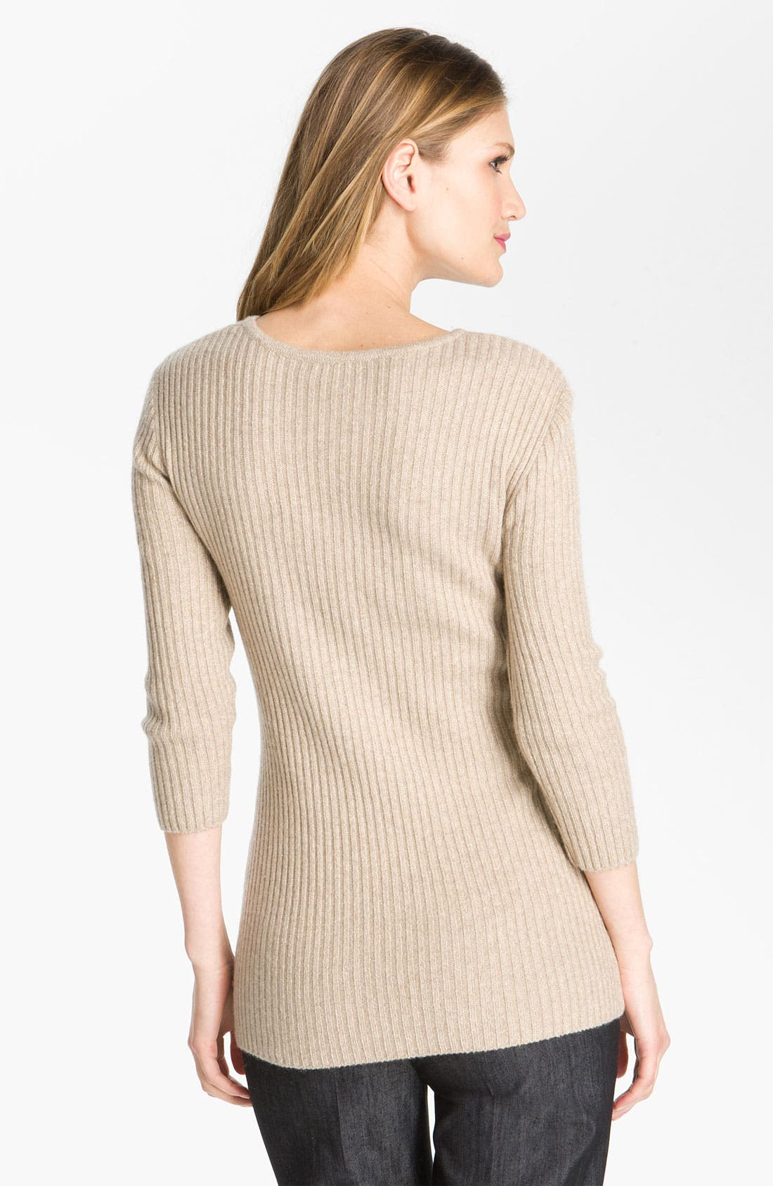 Alternate Image 2  - St. John Yellow Label Sparkle Rib Knit Sweater