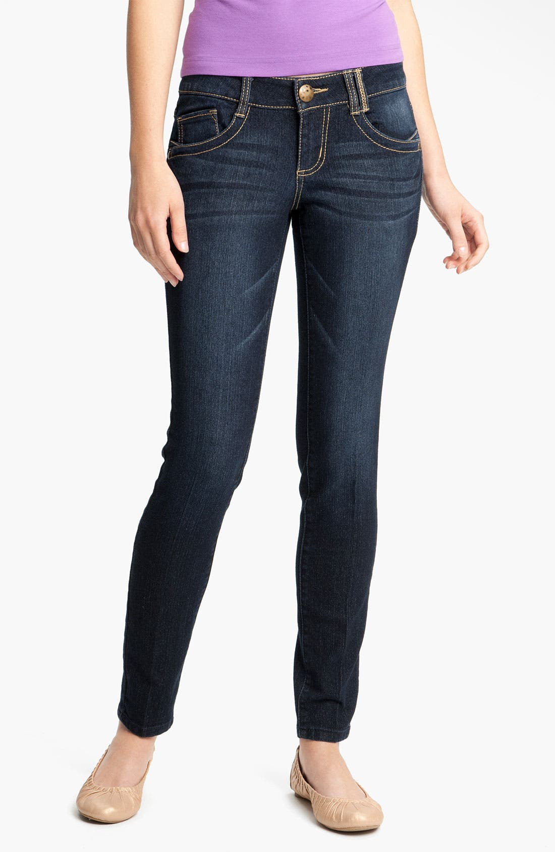 Alternate Image 2  - Jolt Stretch Skinny Jeans (Juniors)