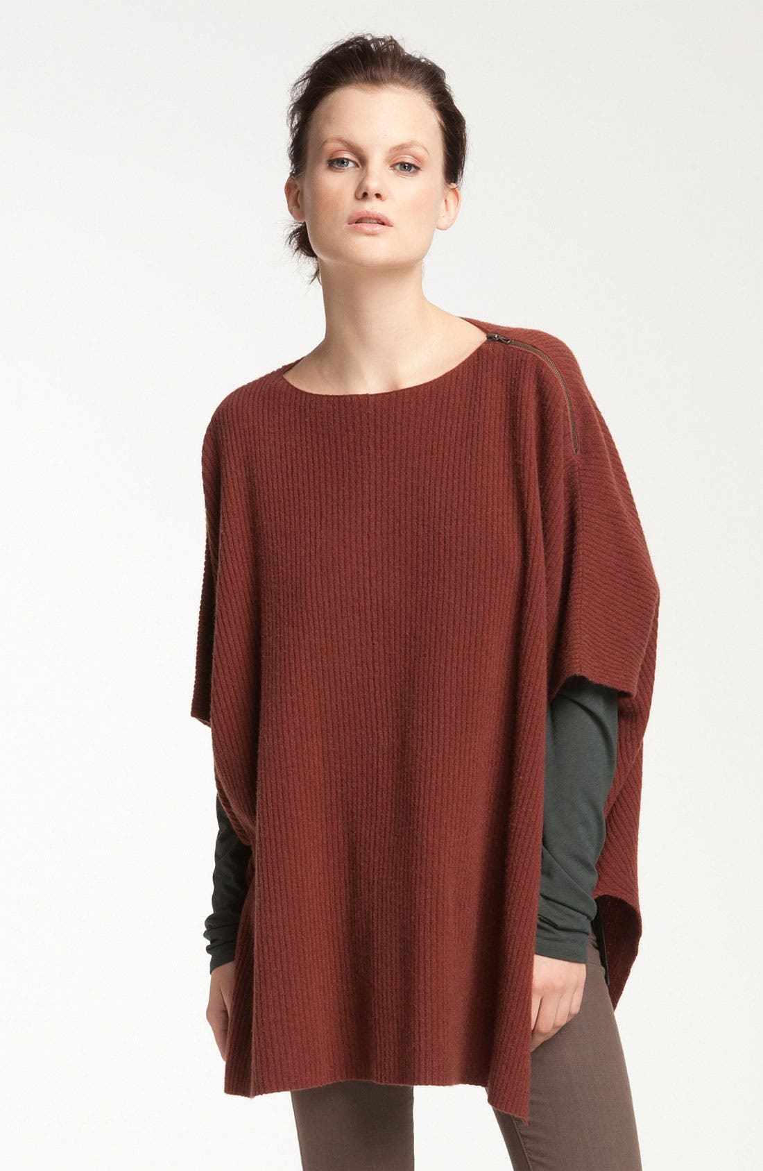 Alternate Image 1 Selected - Vince Ribbed Poncho Sweater