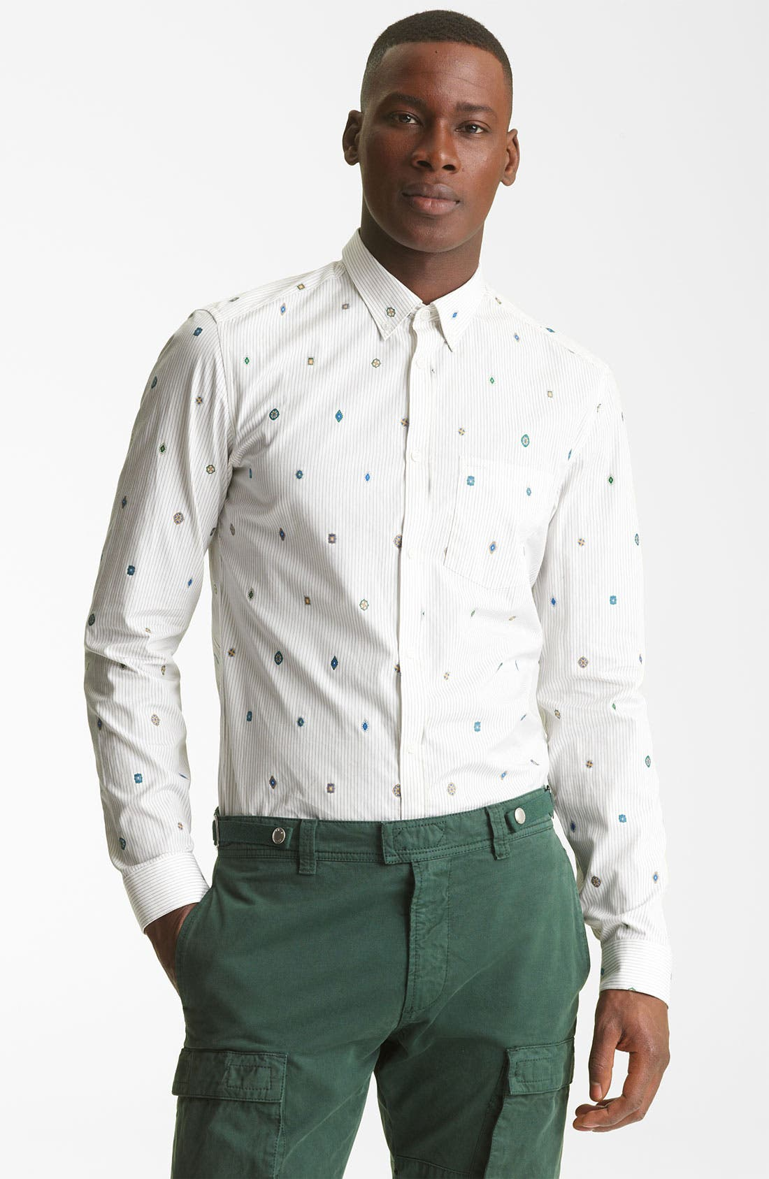 Alternate Image 1 Selected - KENZO Medallion Stripe Dress Shirt