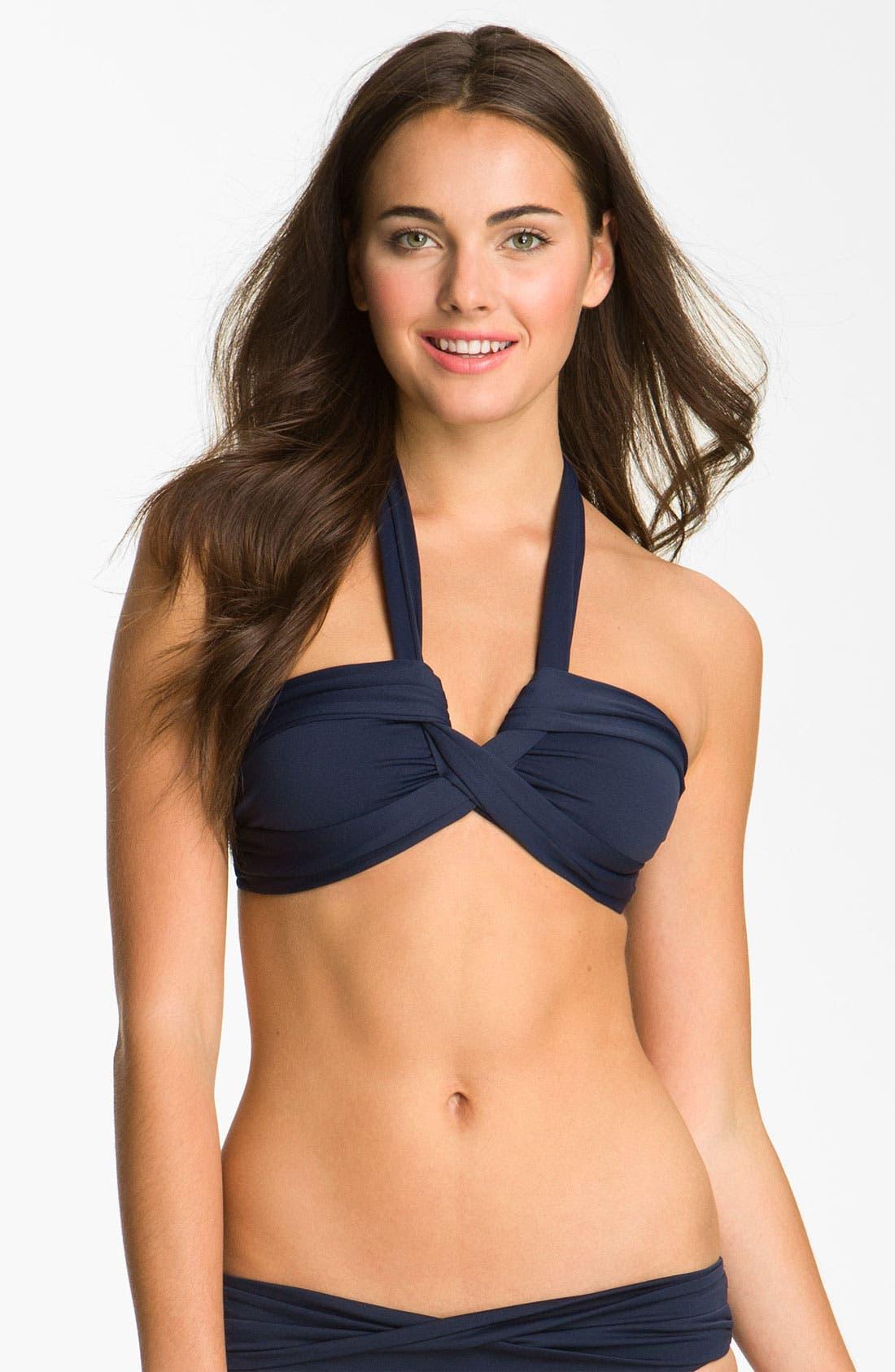 Alternate Image 1 Selected - Seafolly Halter Bikini Top