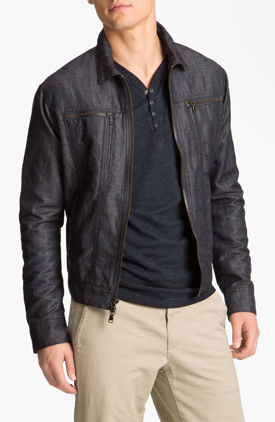 Alternate Image 1 Selected - John Varvatos Star USA Cotton & Linen Jean Jacket