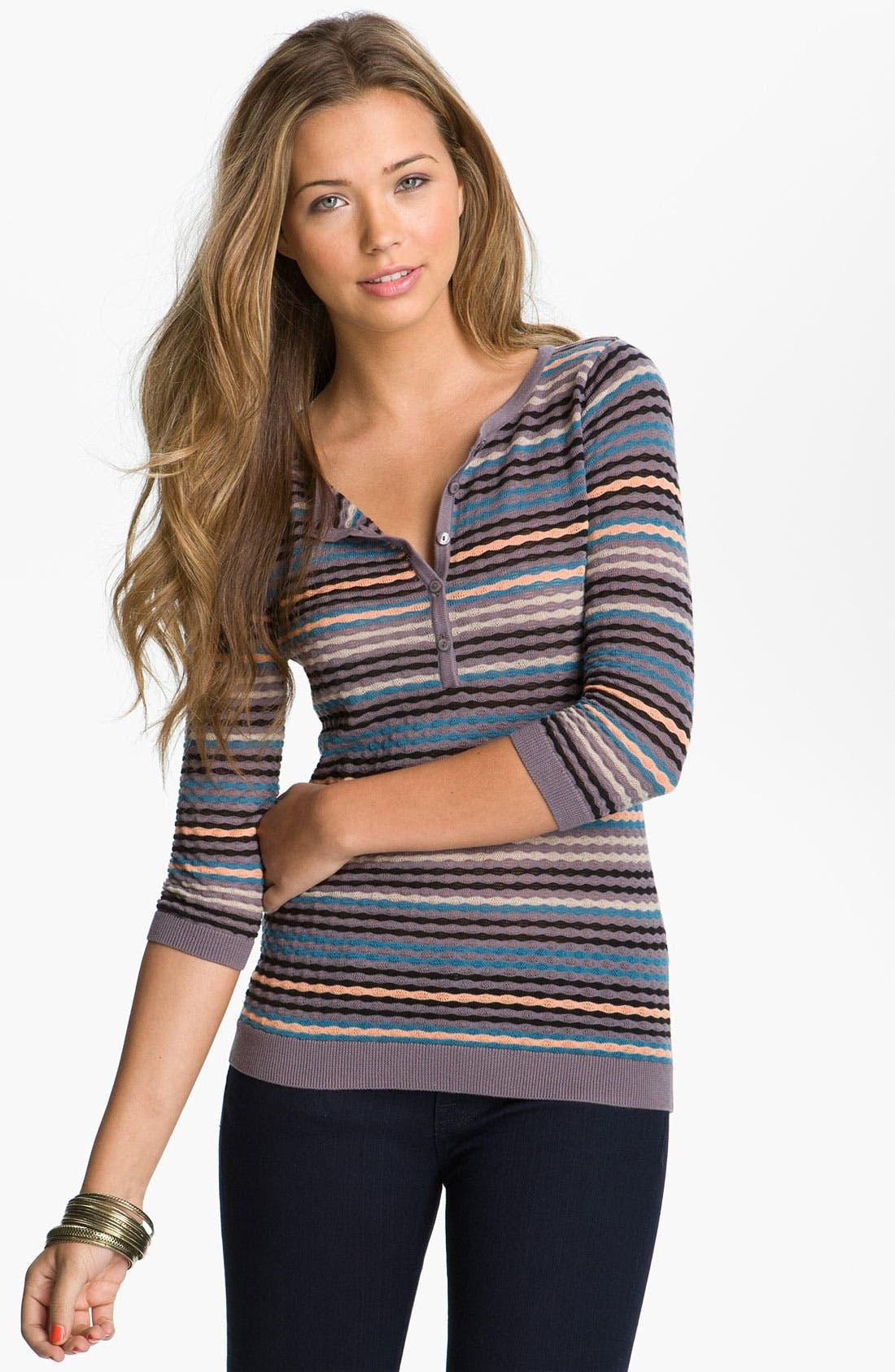 Main Image - Frenchi® Stitched Henley (Juniors)