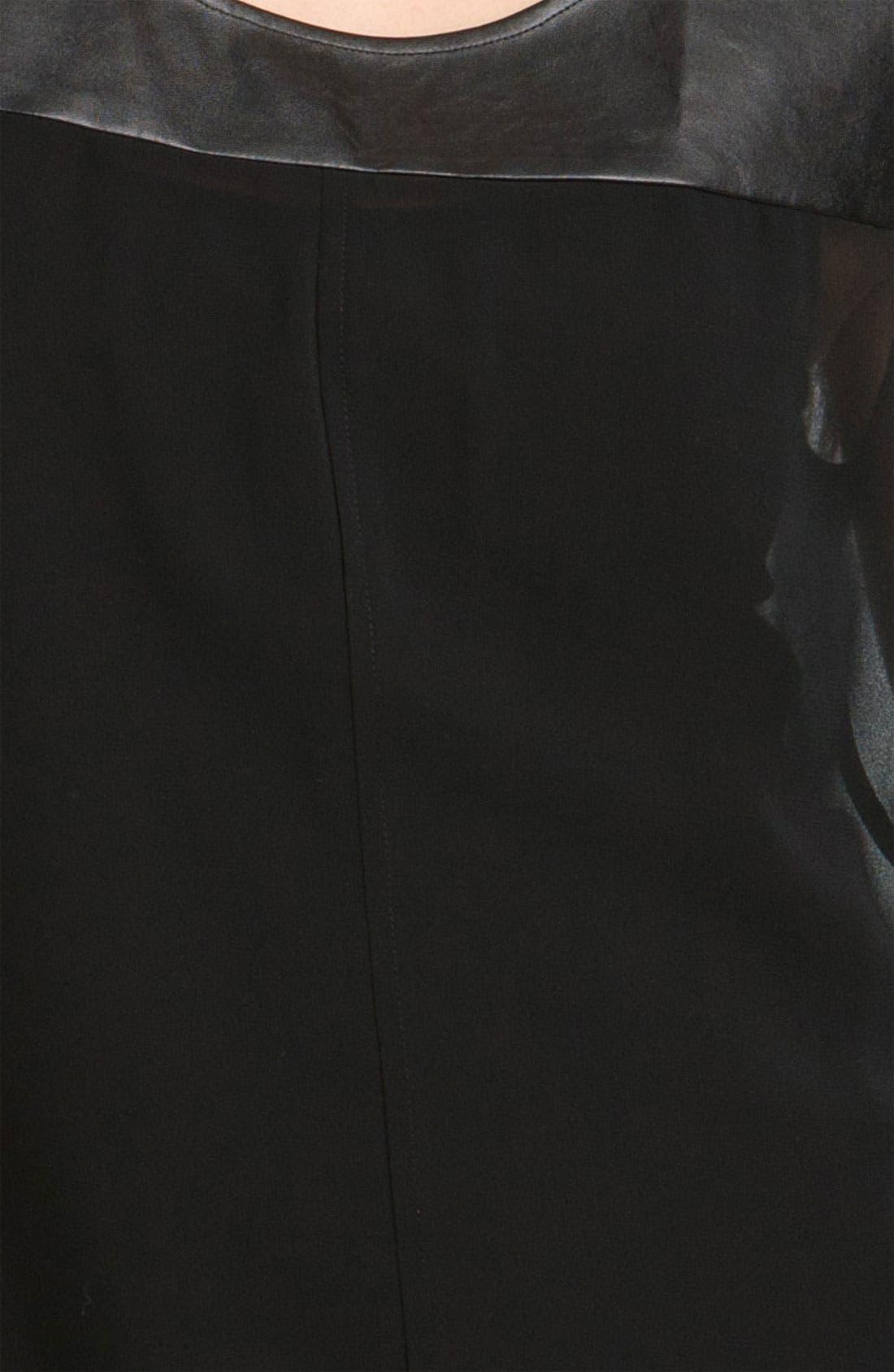 Alternate Image 3  - Trouvé Faux Leather Bib Top