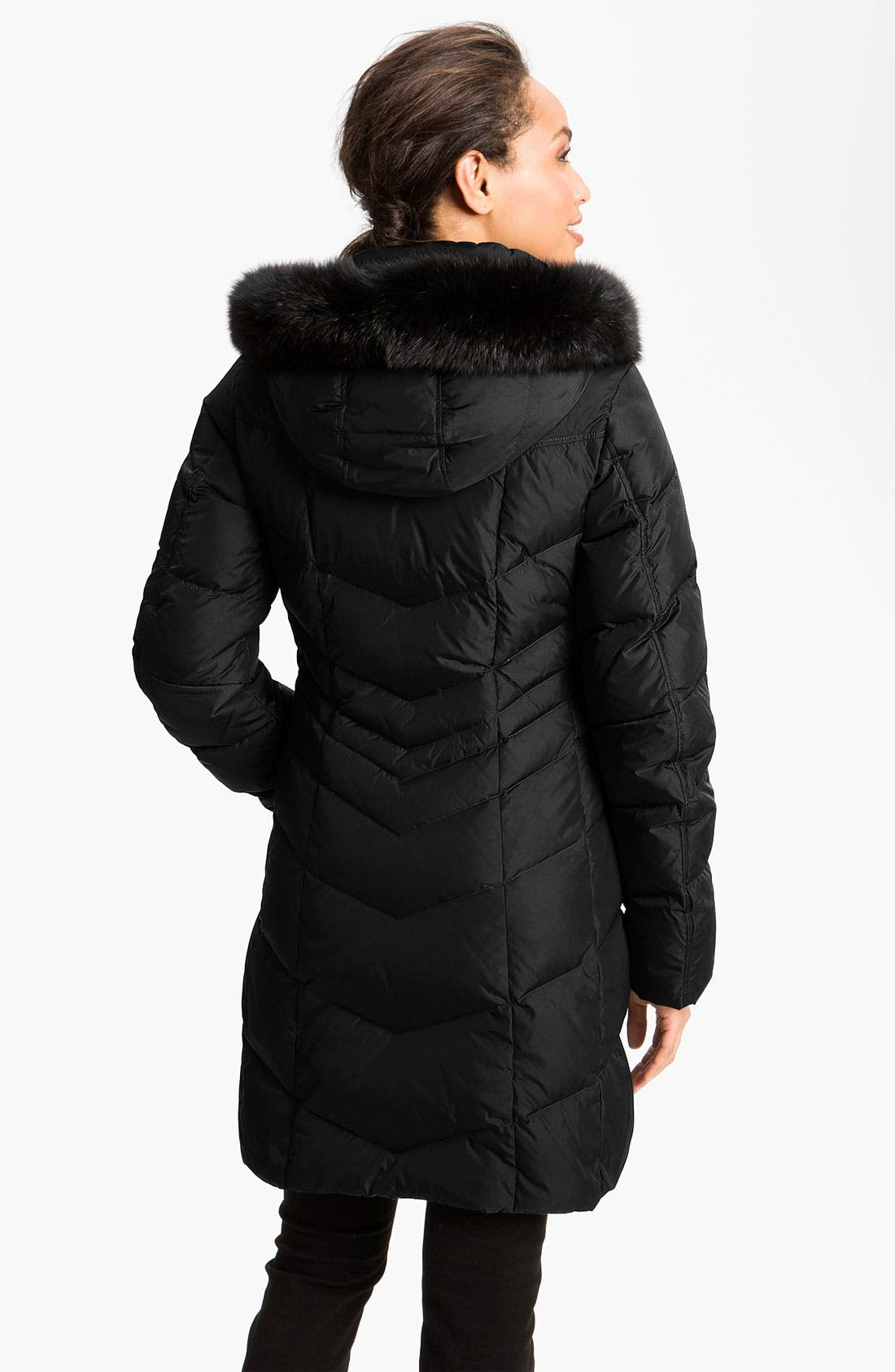Alternate Image 2  - Bogner Water Repellent Down Coat with Fox Fur Trim