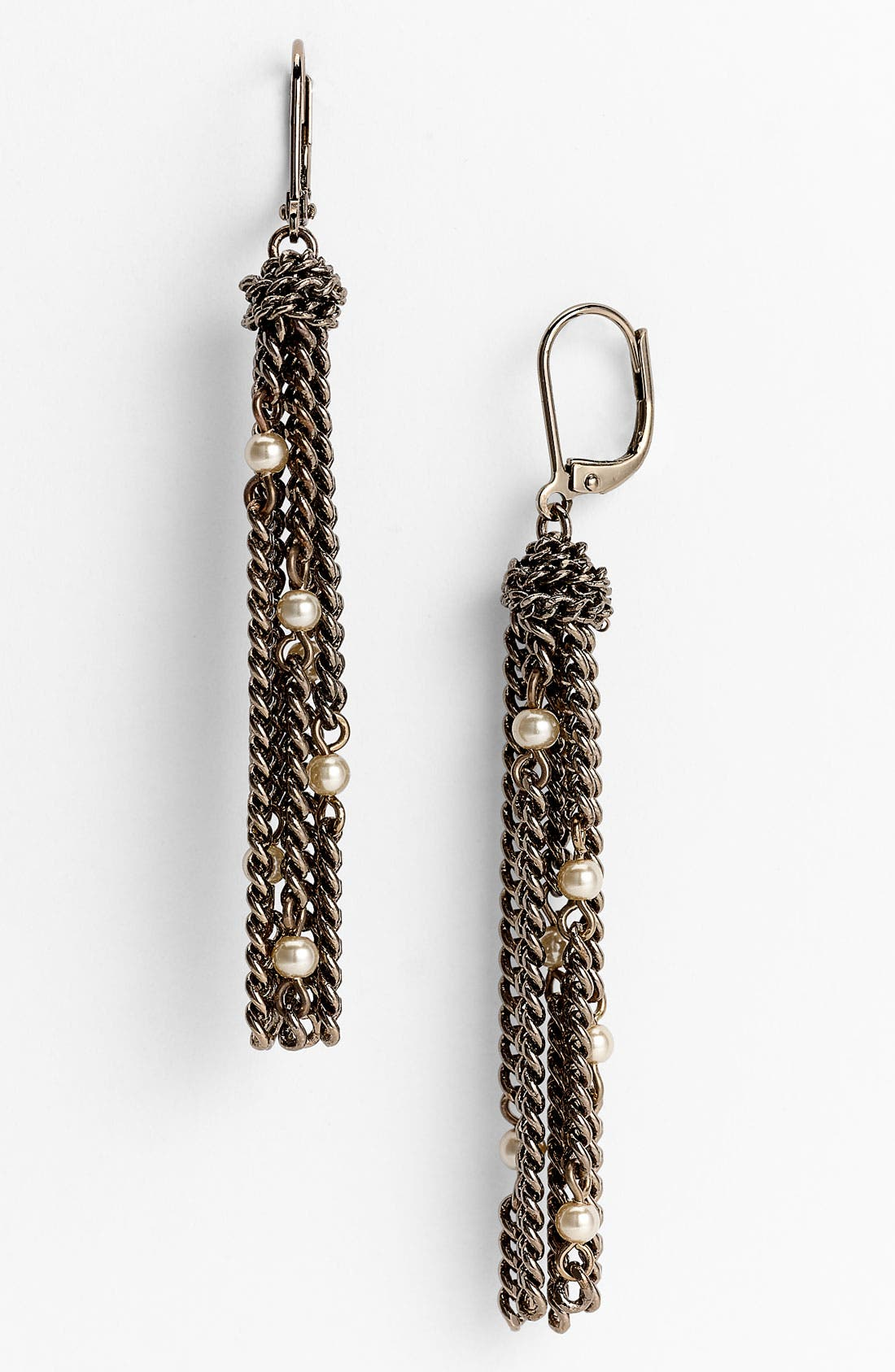 Alternate Image 1 Selected - Givenchy Glass Pearl Tassel Earrings