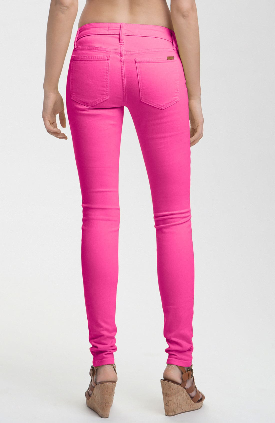Alternate Image 2  - Joe's Skinny Stretch Jeans (Pink Glo)